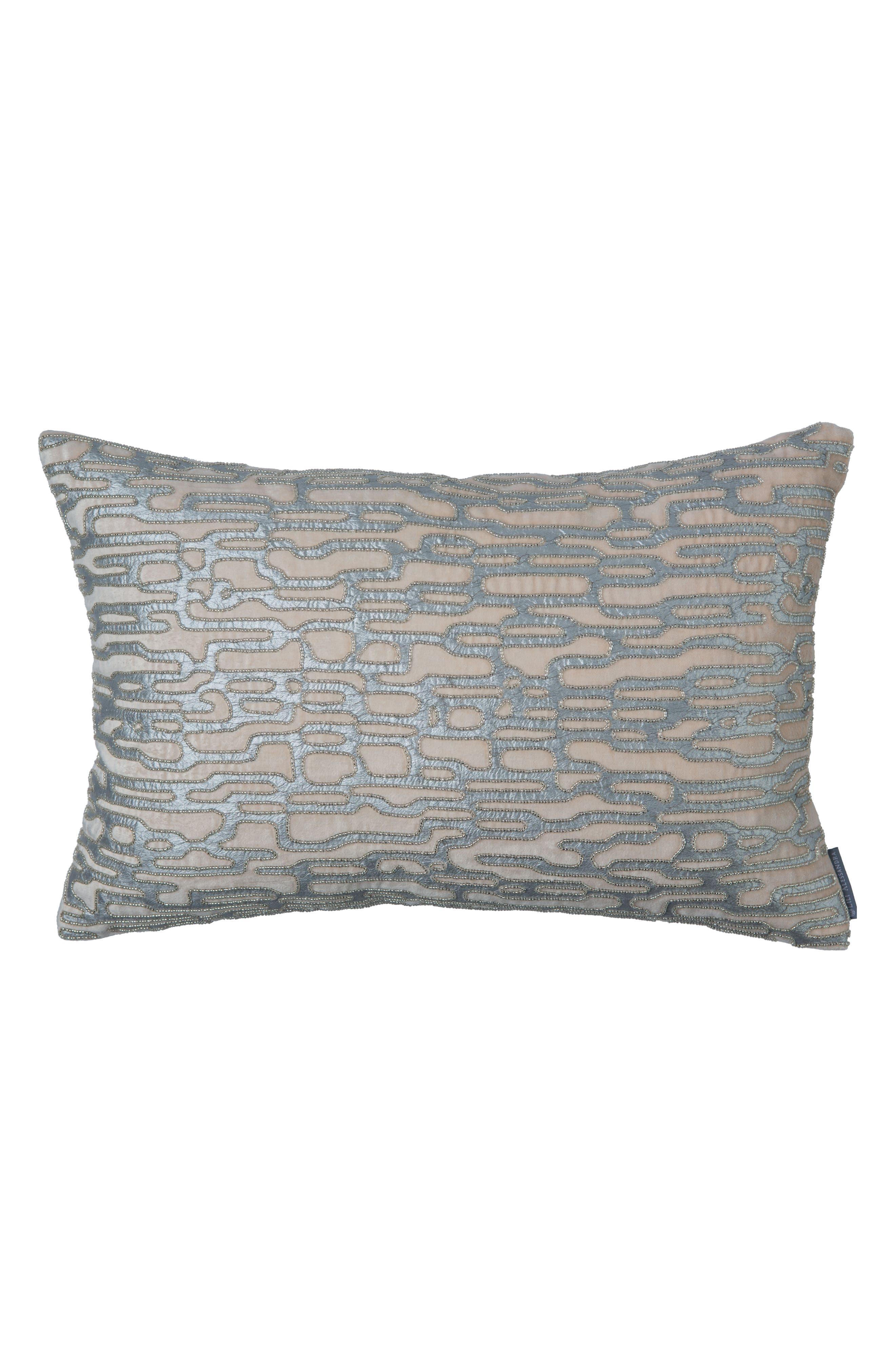 Christian Beaded Velvet Accent Pillow,                         Main,                         color, 020