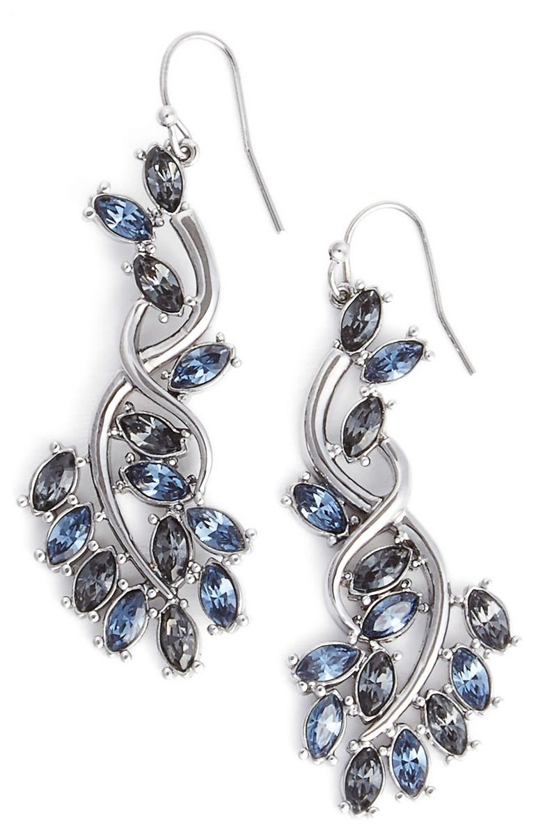 a7aa8600d ST. JOHN COLLECTION 'Garden' Swarovski Crystal Drop Earrings, Main, color,