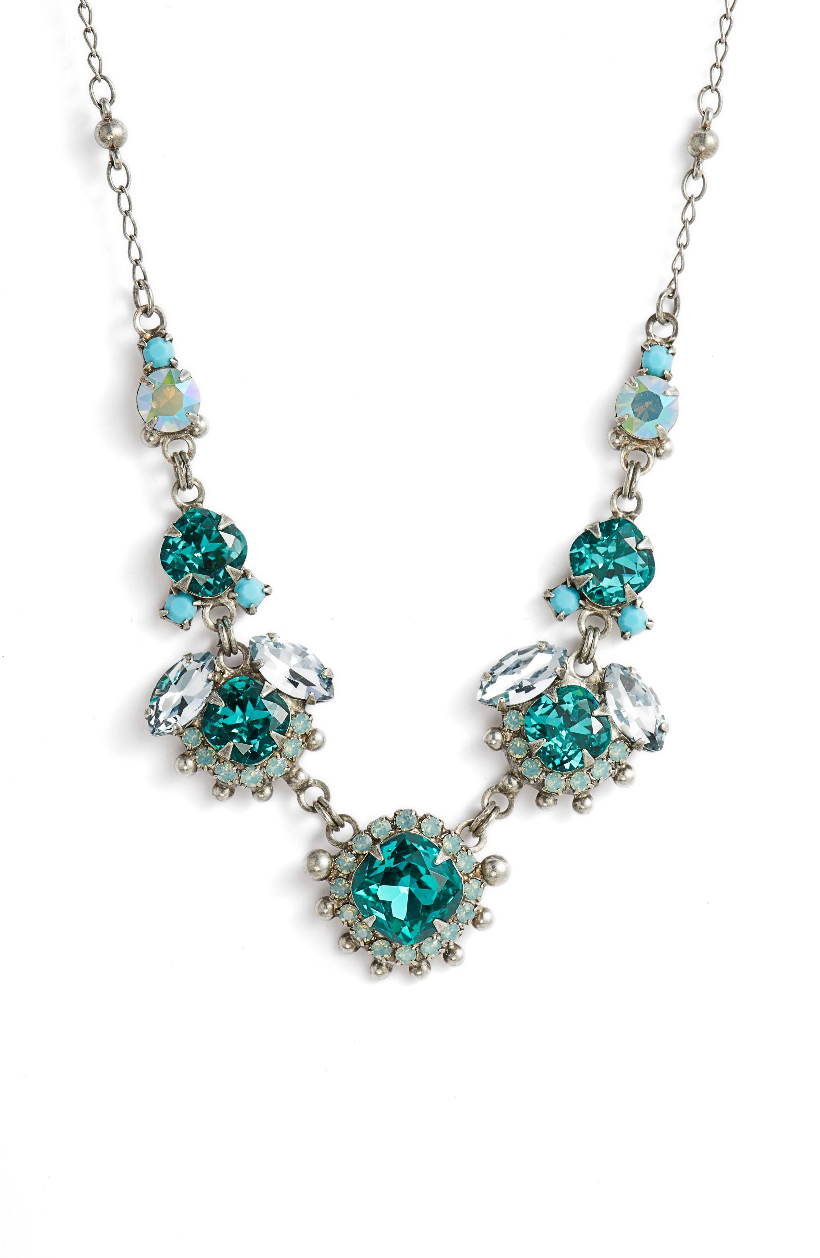 Sunflower Crystal Necklace,                         Main,                         color, 440