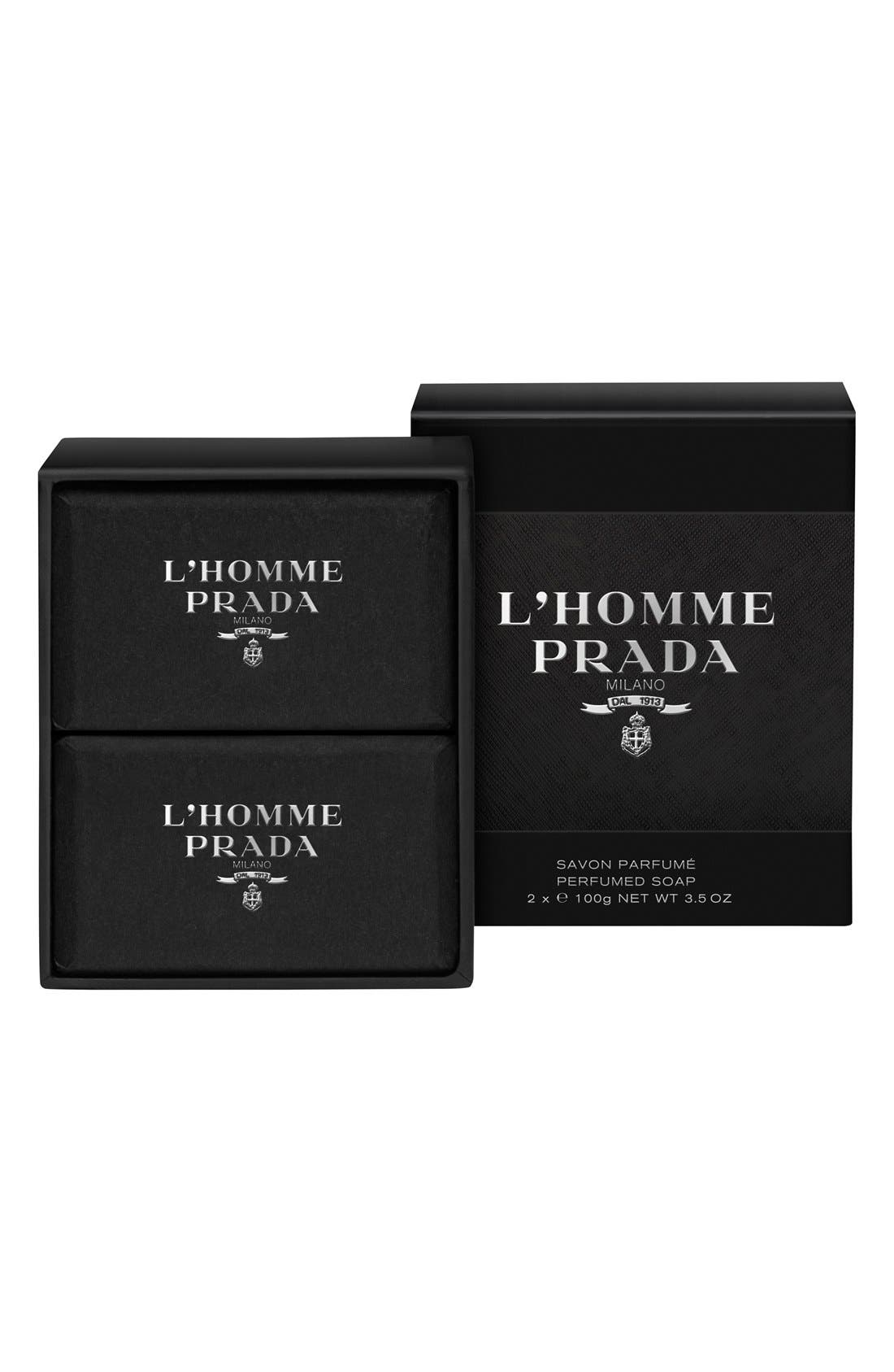 'L'Homme Prada' Perfumed Soap,                             Main thumbnail 1, color,                             NO COLOR