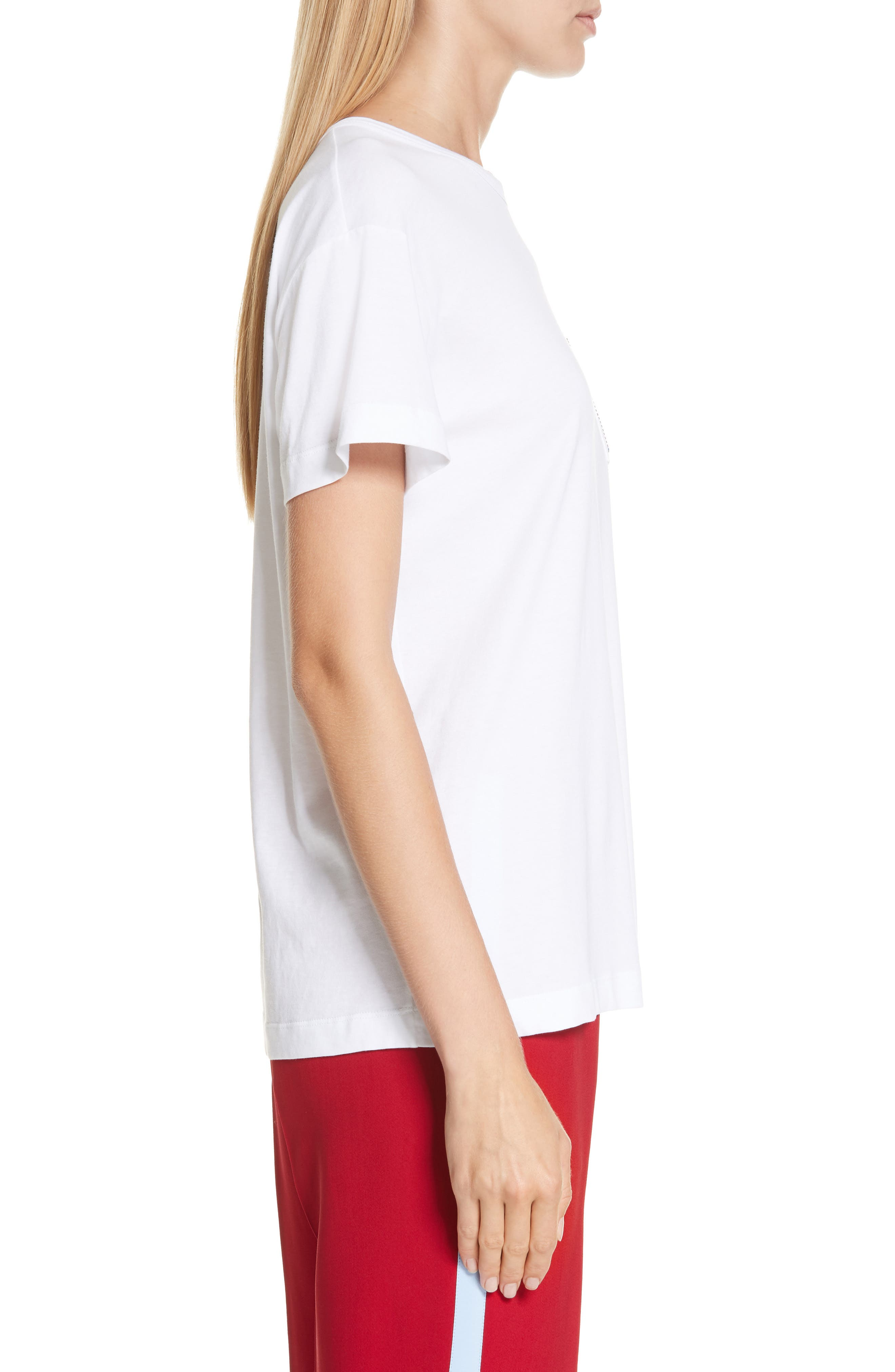 Nº21 Photograph Pocket Tee,                             Alternate thumbnail 3, color,                             WHITE