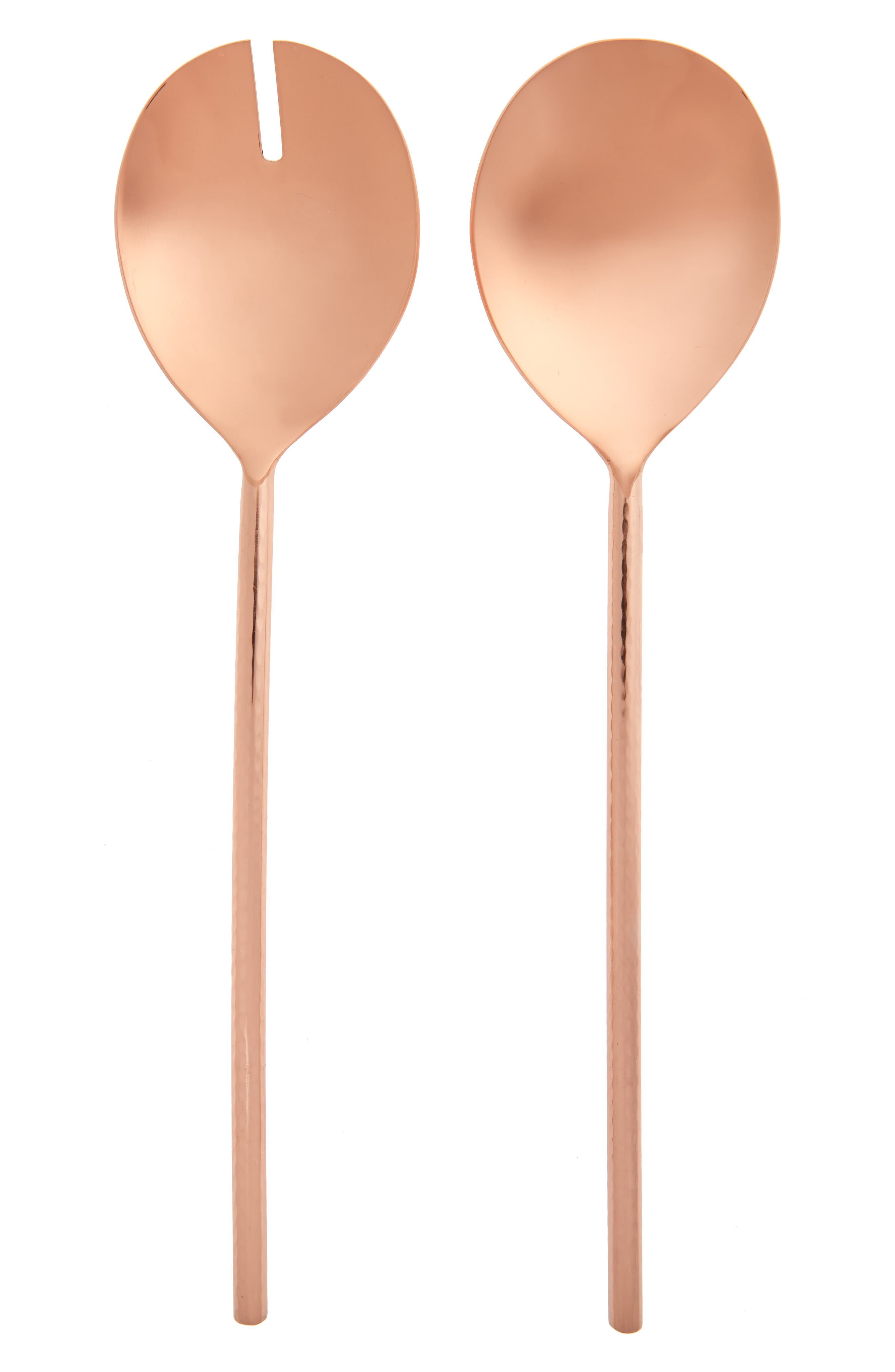 Global Trek Set of 2 Copper Plated Salad Servers,                             Main thumbnail 1, color,                             220