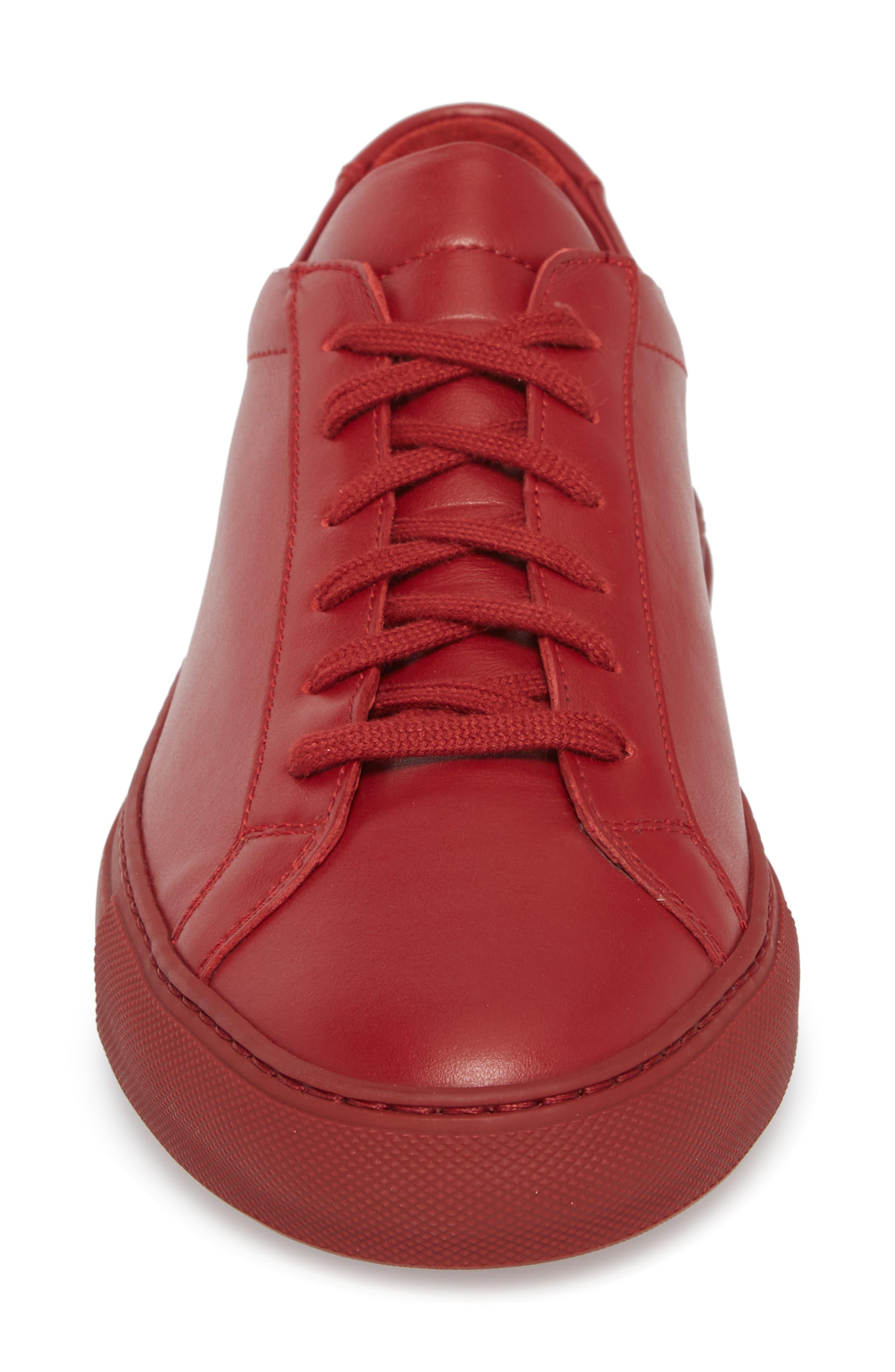 Original Achilles Sneaker,                             Alternate thumbnail 4, color,                             RED LEATHER