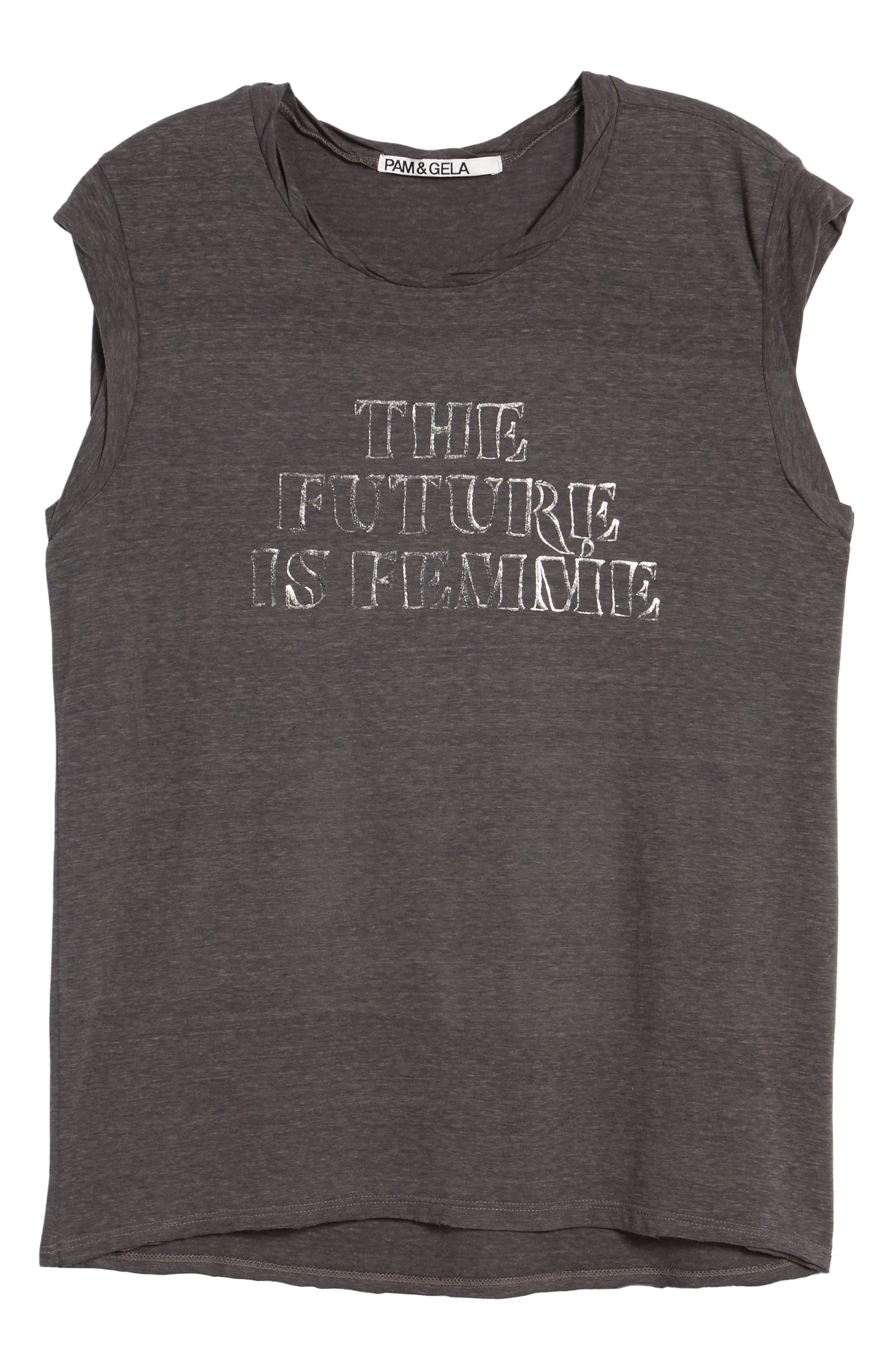 Frankie - The Future is Femme Muscle Tank,                             Alternate thumbnail 6, color,                             024