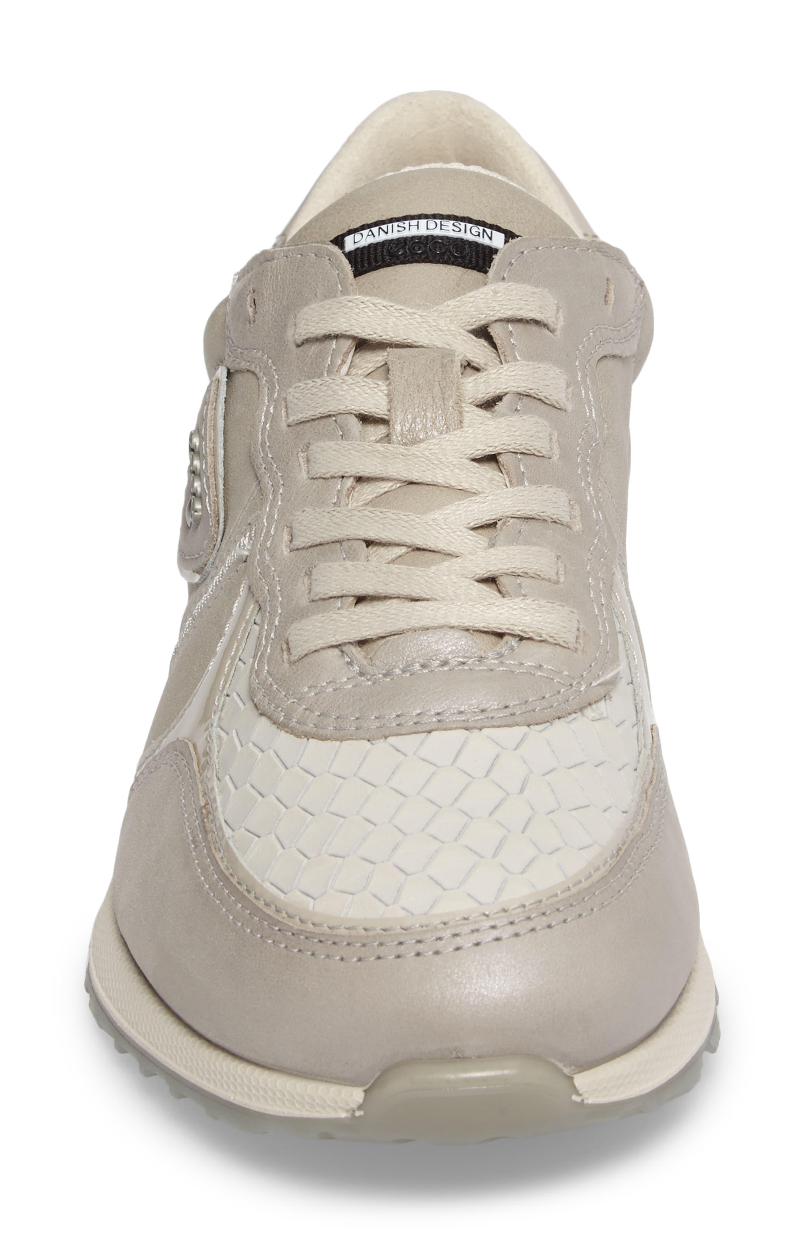 Retro Sneaker,                             Alternate thumbnail 4, color,                             GRAVEL/ WHITE LEATHER
