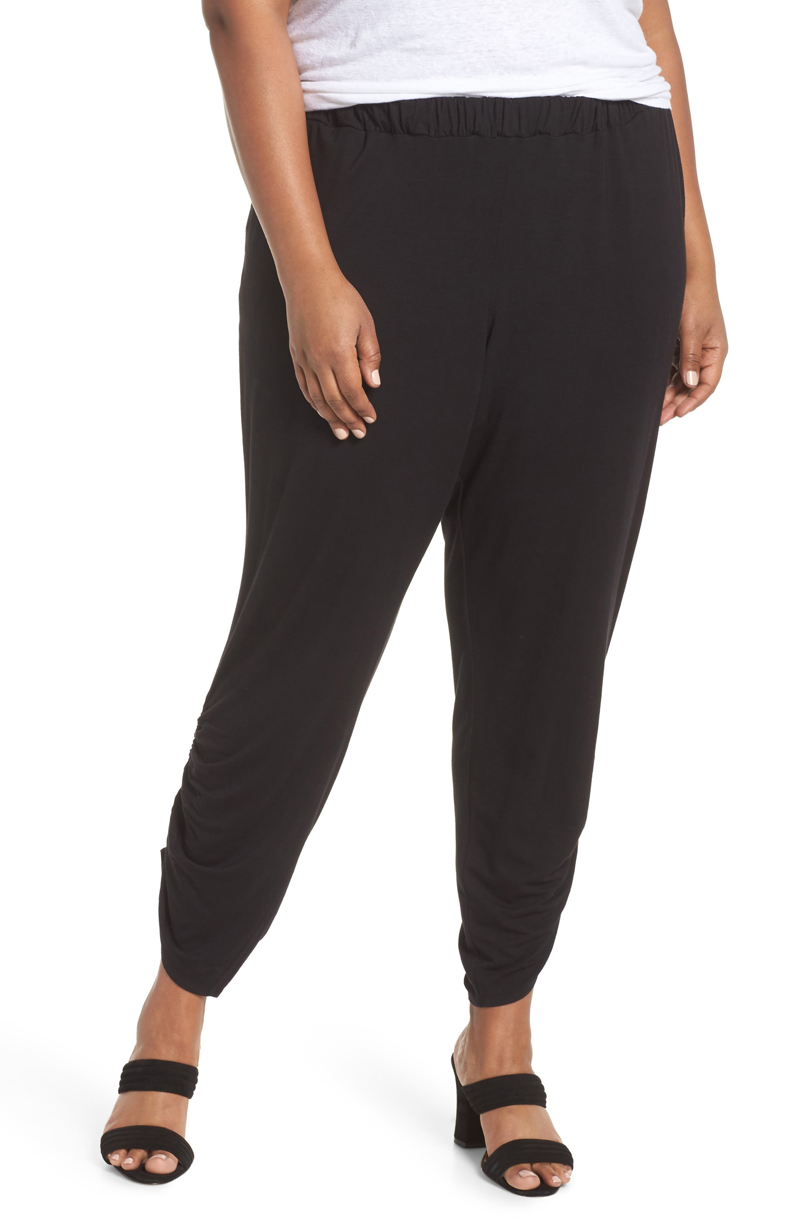 Cinch Hem Harem Pants,                         Main,                         color, 001