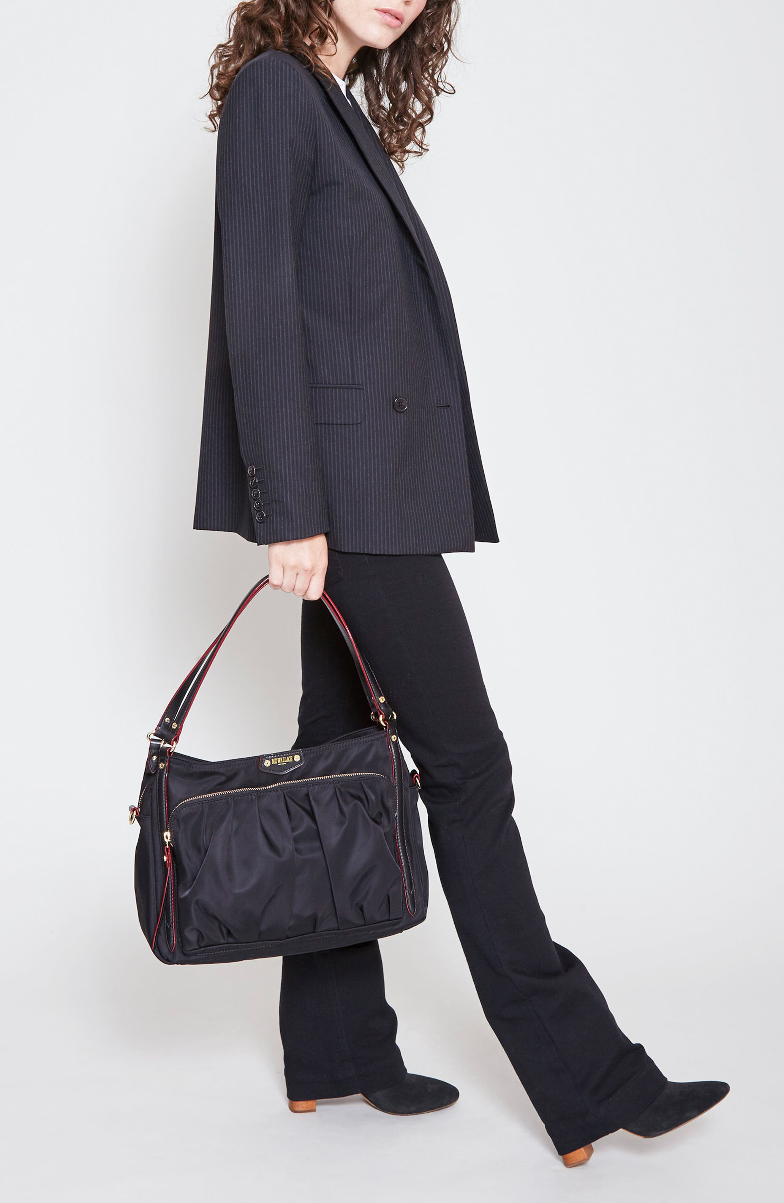 Toni Bedford Nylon Shoulder Bag,                             Alternate thumbnail 2, color,                             008