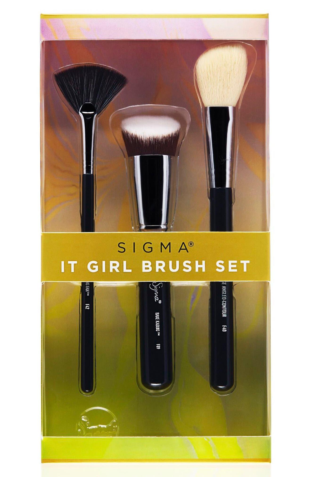 It Girl Brush Set,                             Main thumbnail 1, color,                             NO COLOR
