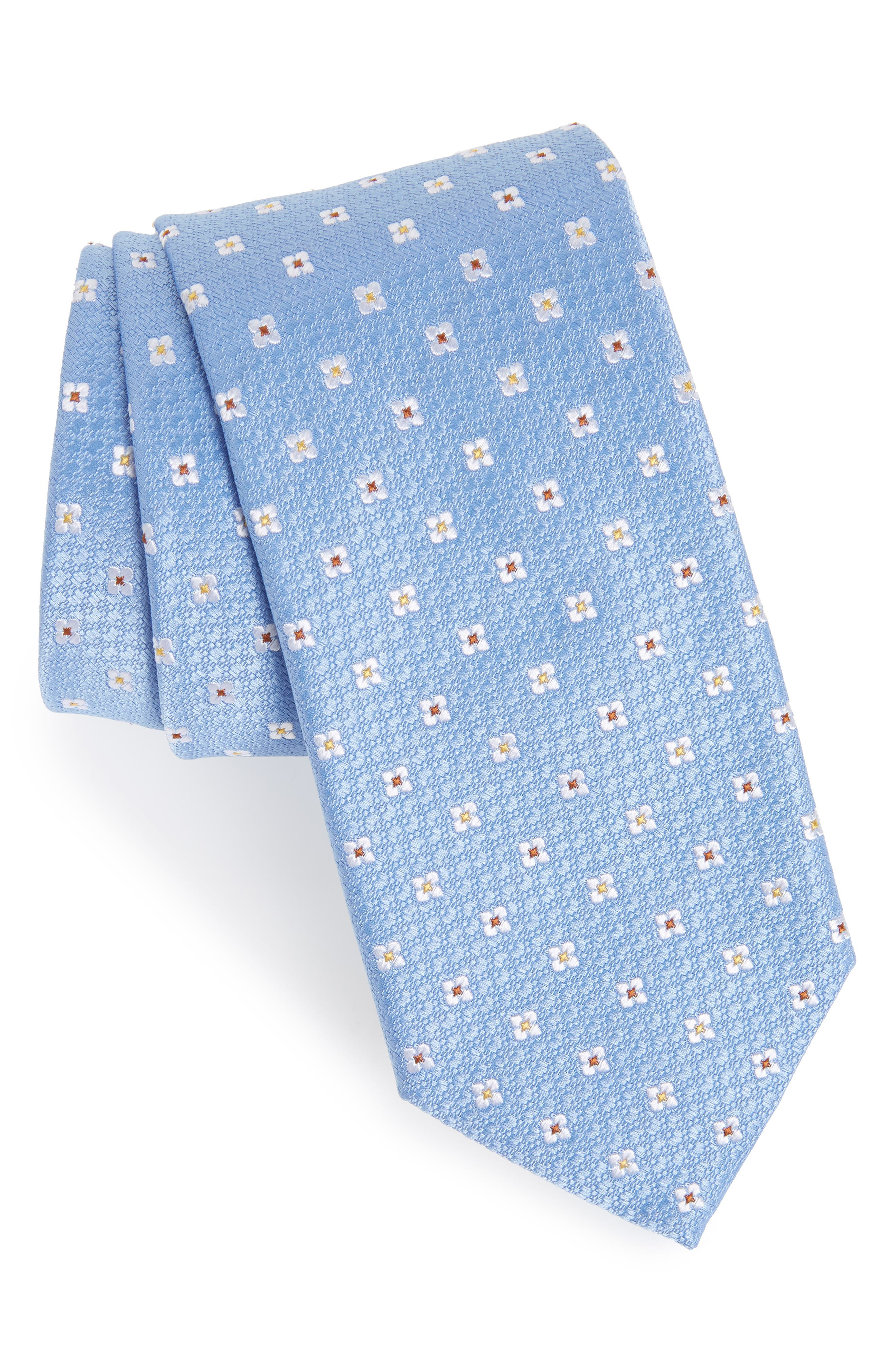 Neat Floral Silk Tie,                             Main thumbnail 1, color,                             410
