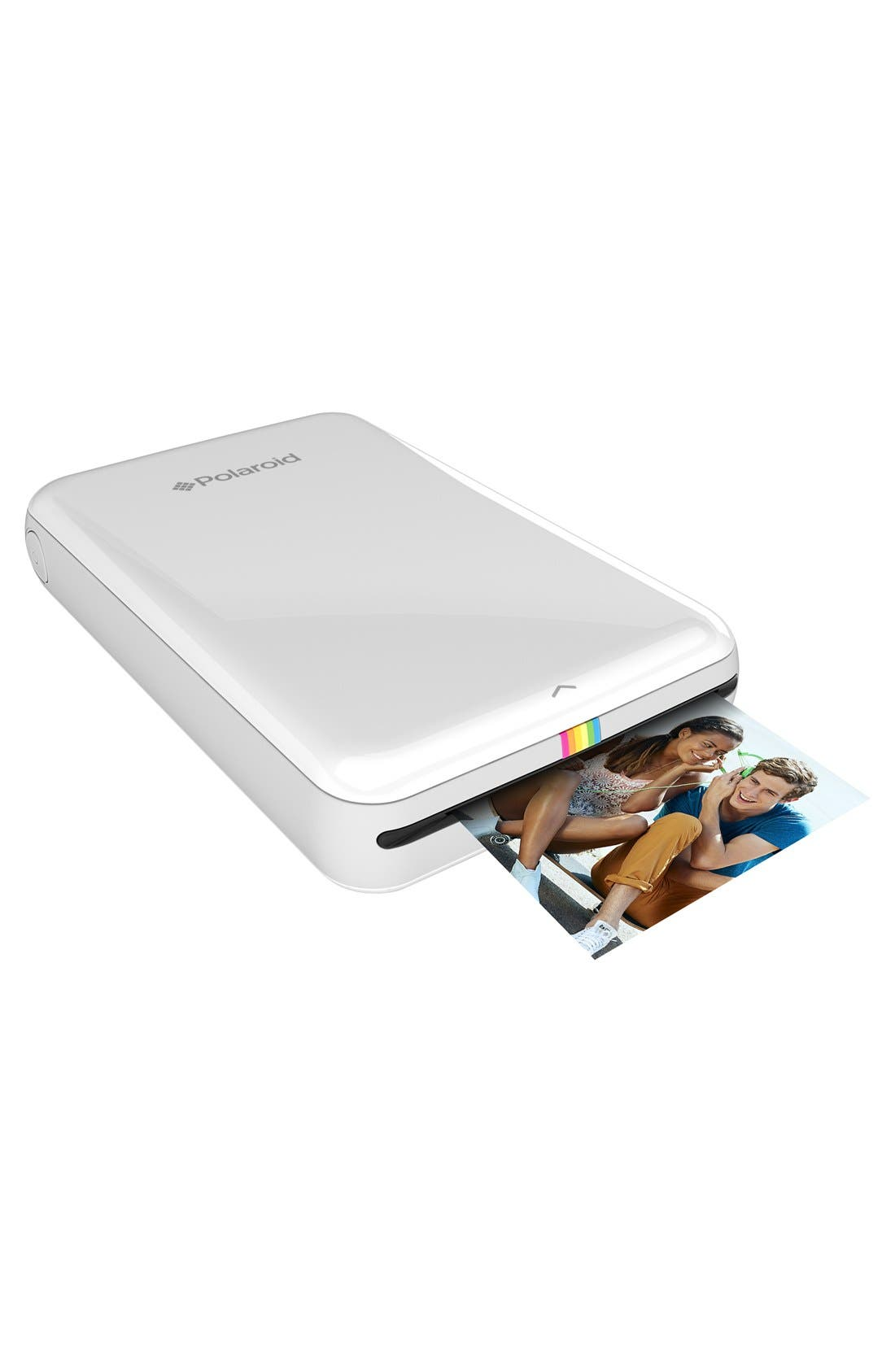 'Zip' Mobile Instant Photo Printer,                             Main thumbnail 1, color,                             100