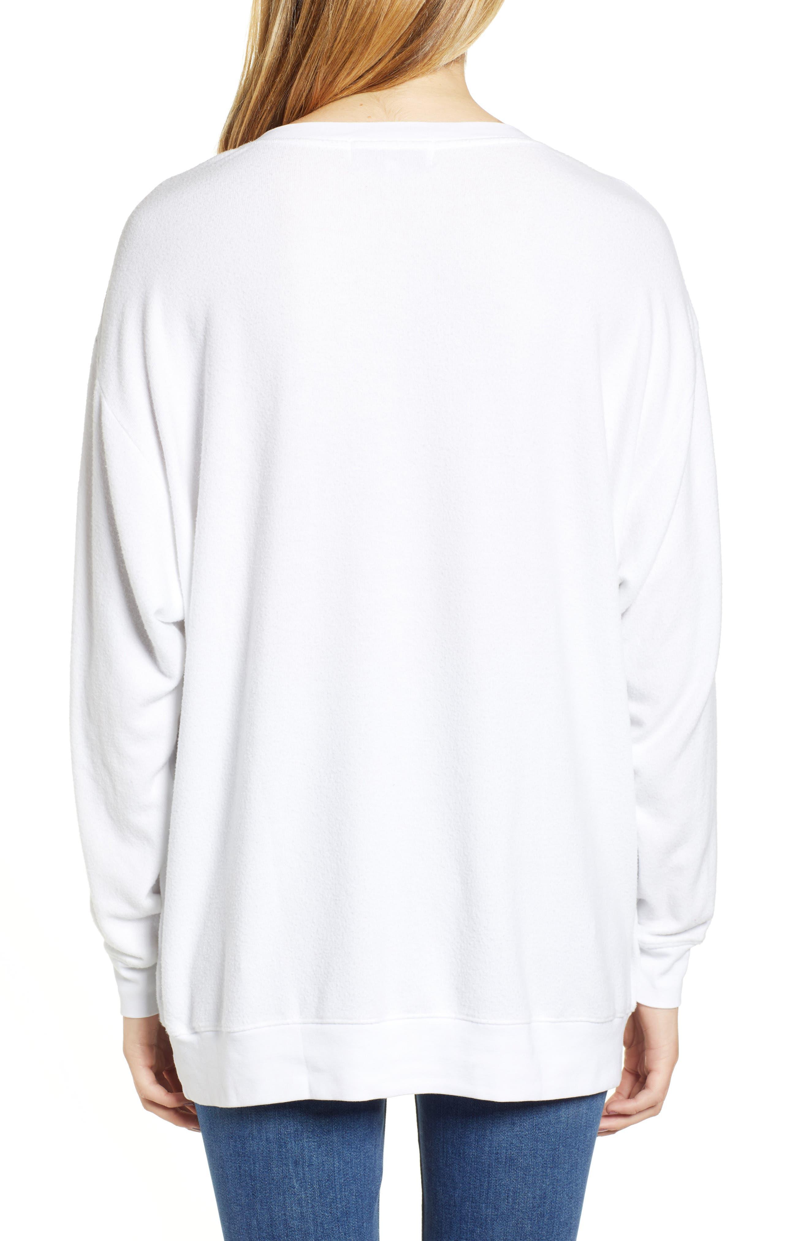 Roadtrip - Racer Check Sweatshirt,                             Alternate thumbnail 2, color,                             CLEAN WHITE
