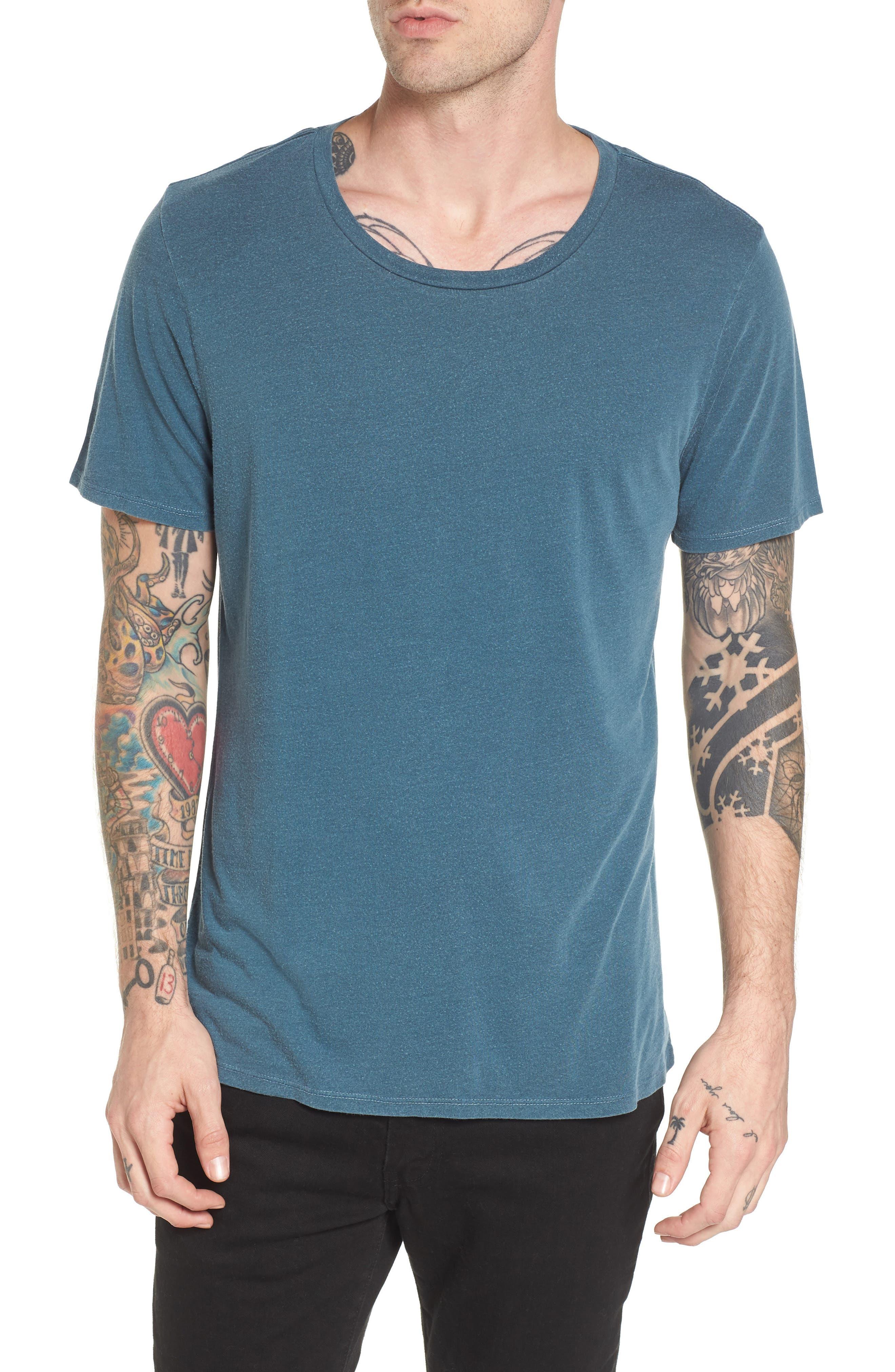 Slim Fit Scoop Neck T-Shirt,                             Main thumbnail 1, color,                             449