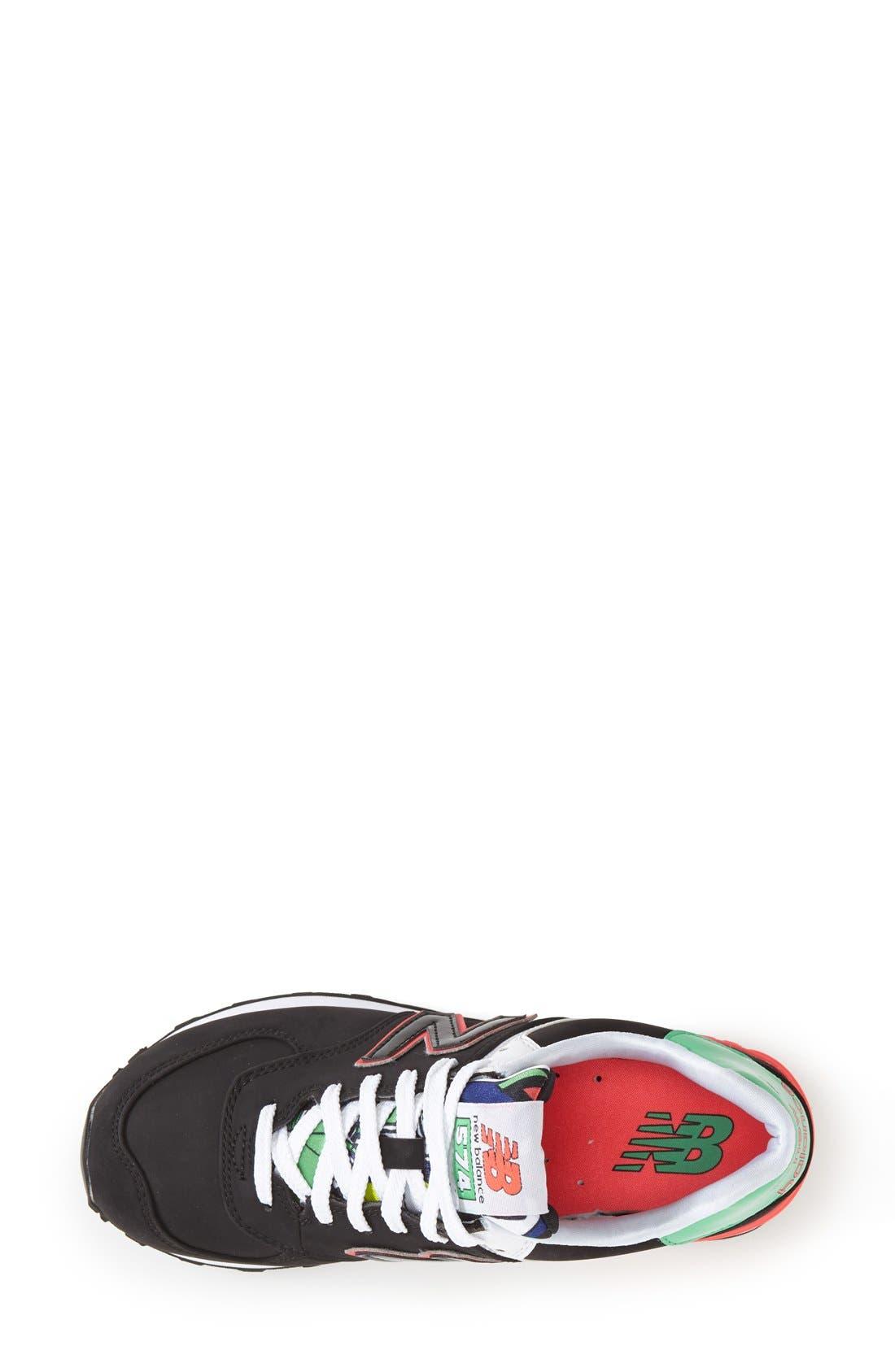 '574 Classic' Sneaker,                             Alternate thumbnail 4, color,                             001