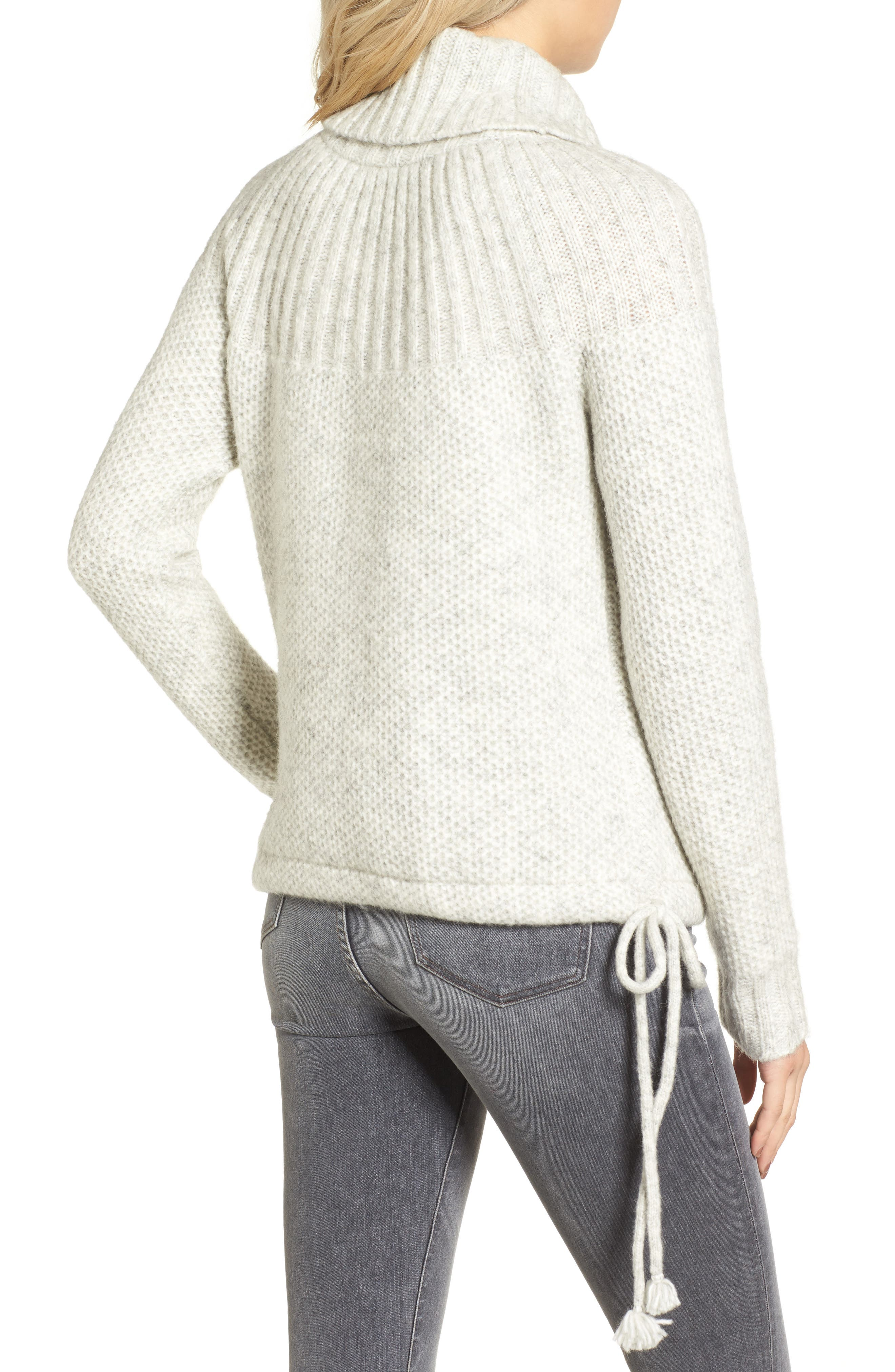 Drawcord Cowl Sweater,                             Alternate thumbnail 2, color,                             020