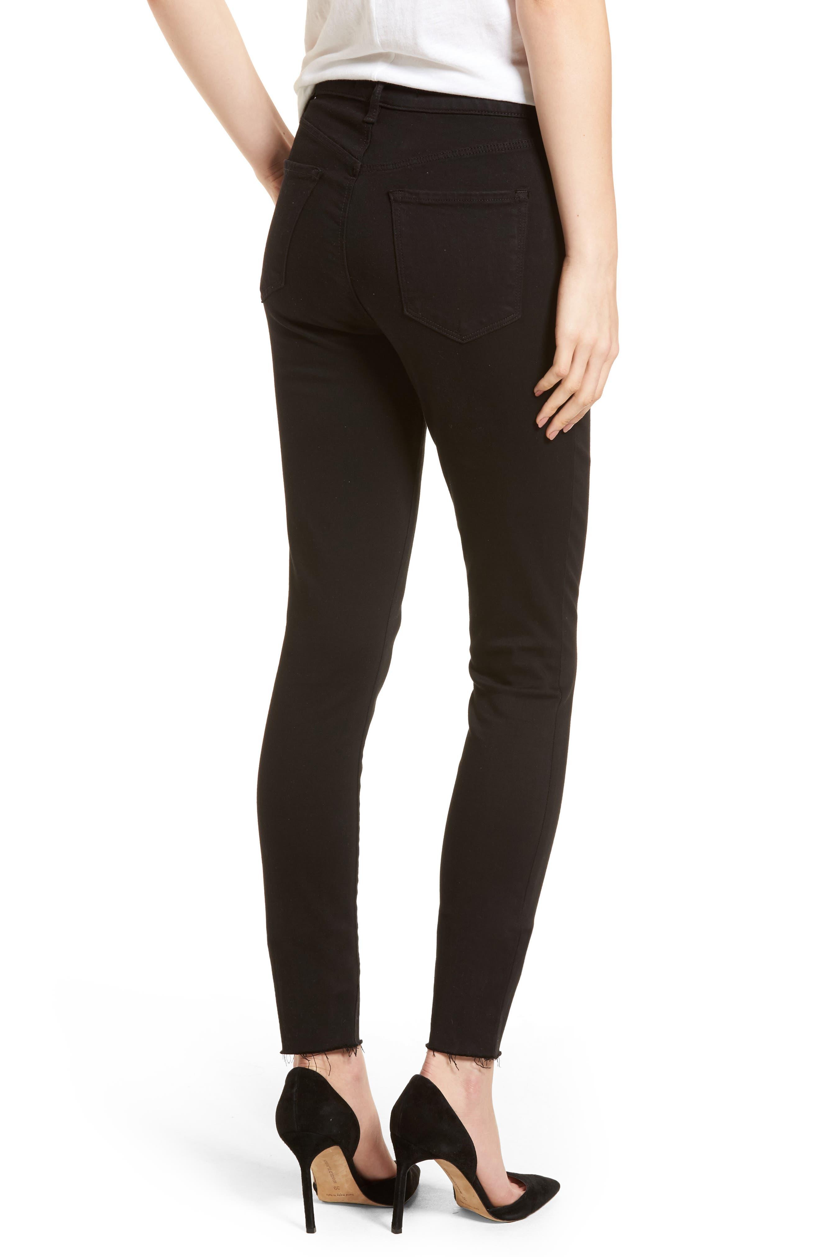 Maria High Waist Skinny Jeans,                             Alternate thumbnail 2, color,                             BLACK BASTILLE