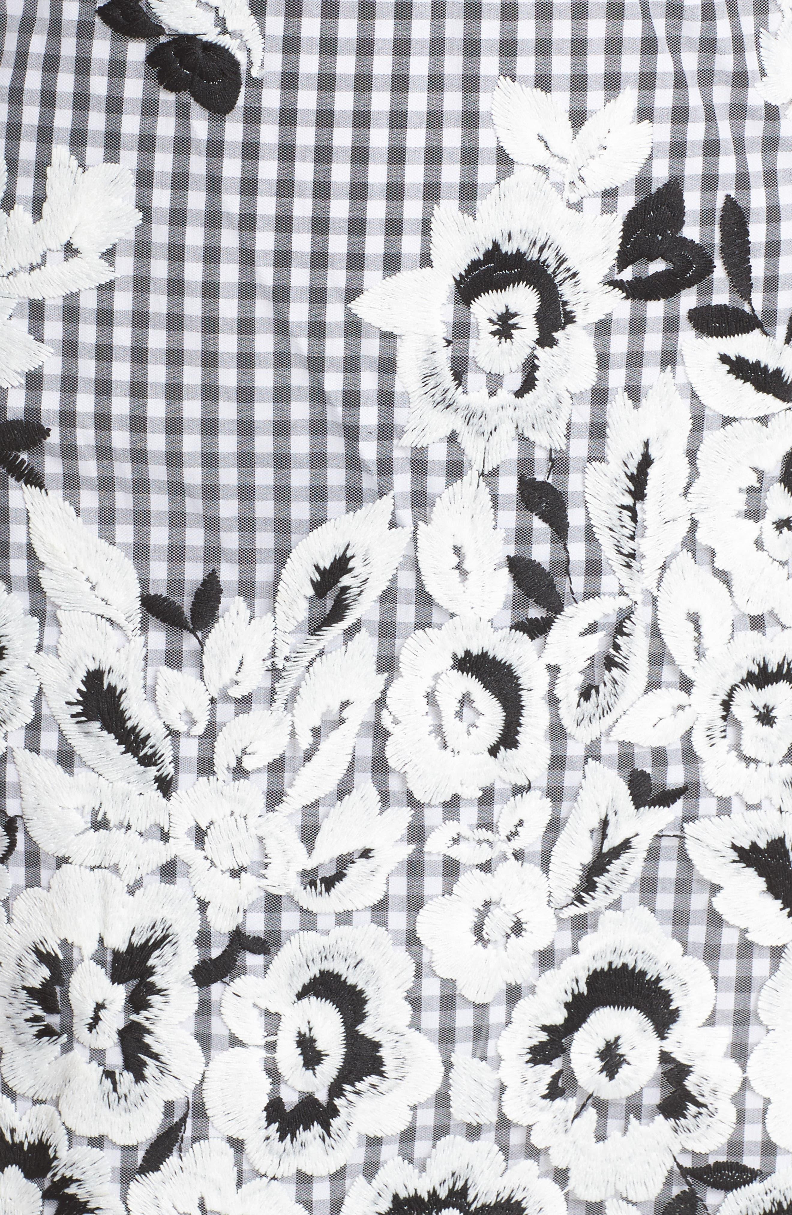 Strapless Midi Dress,                             Alternate thumbnail 5, color,                             001