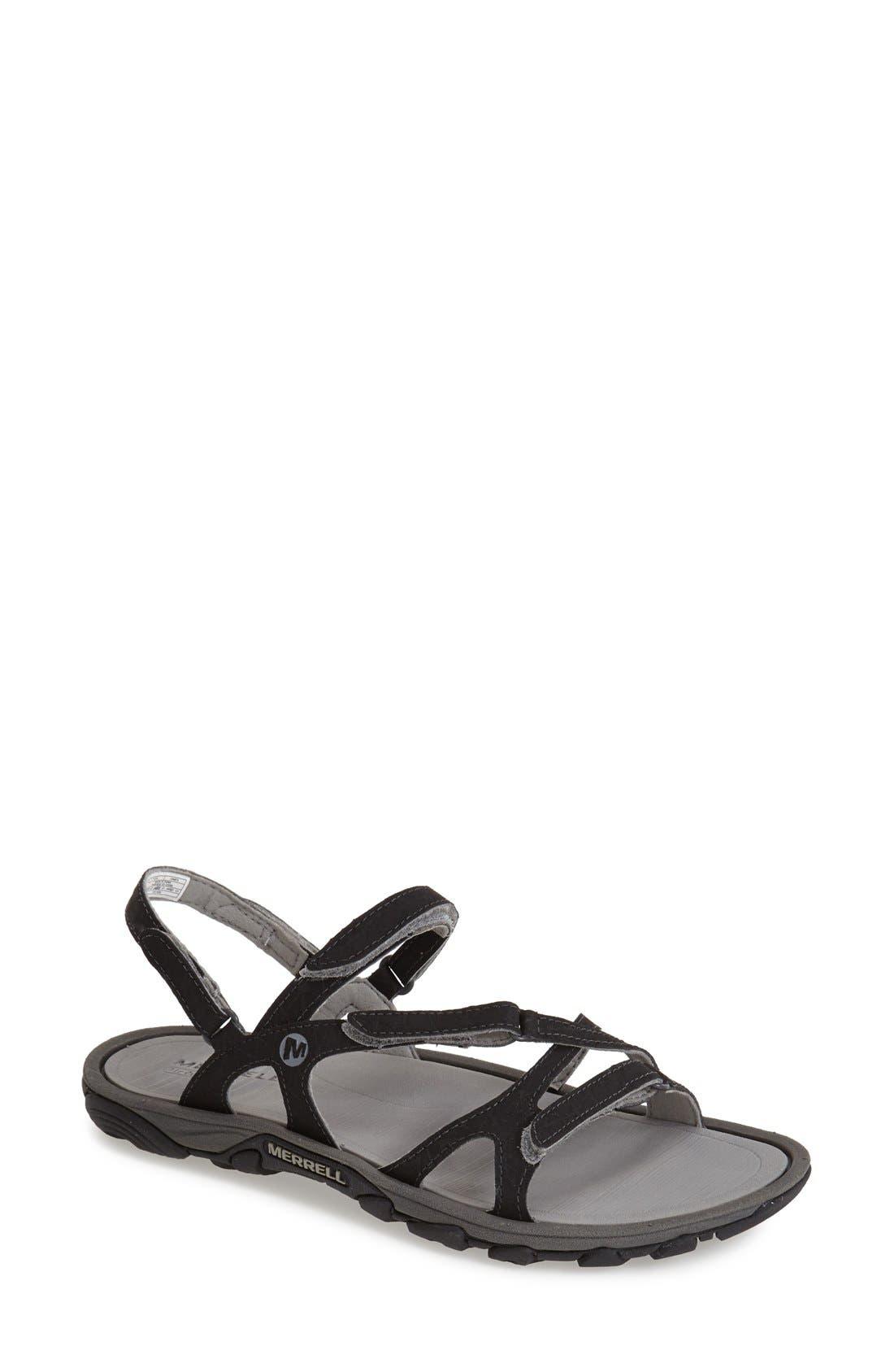 'Enoki' Water-Resistant Sandal,                             Main thumbnail 1, color,                             001