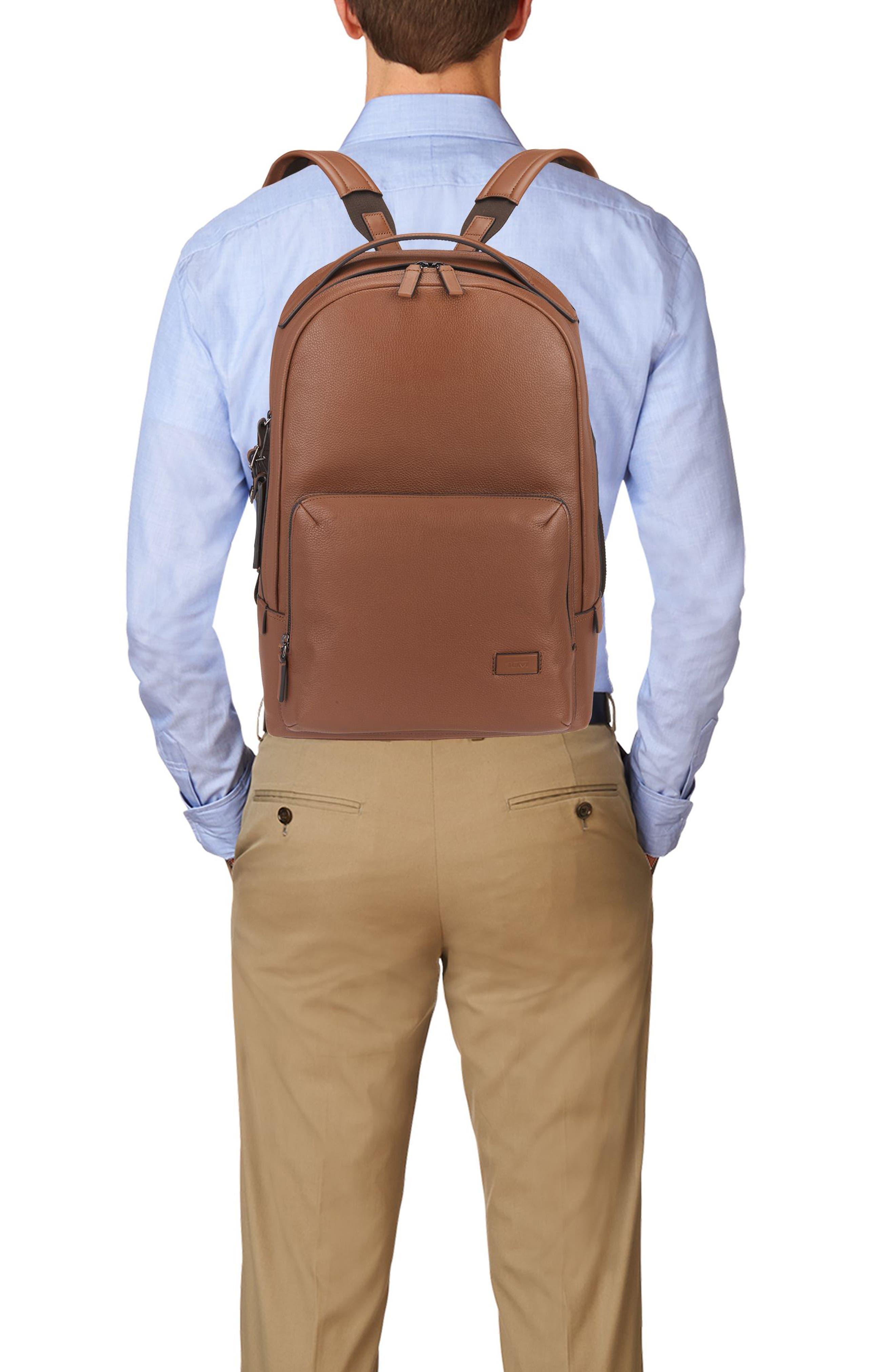 Harrison - Webster Backpack,                             Alternate thumbnail 5, color,                             UMBER PEBBLED