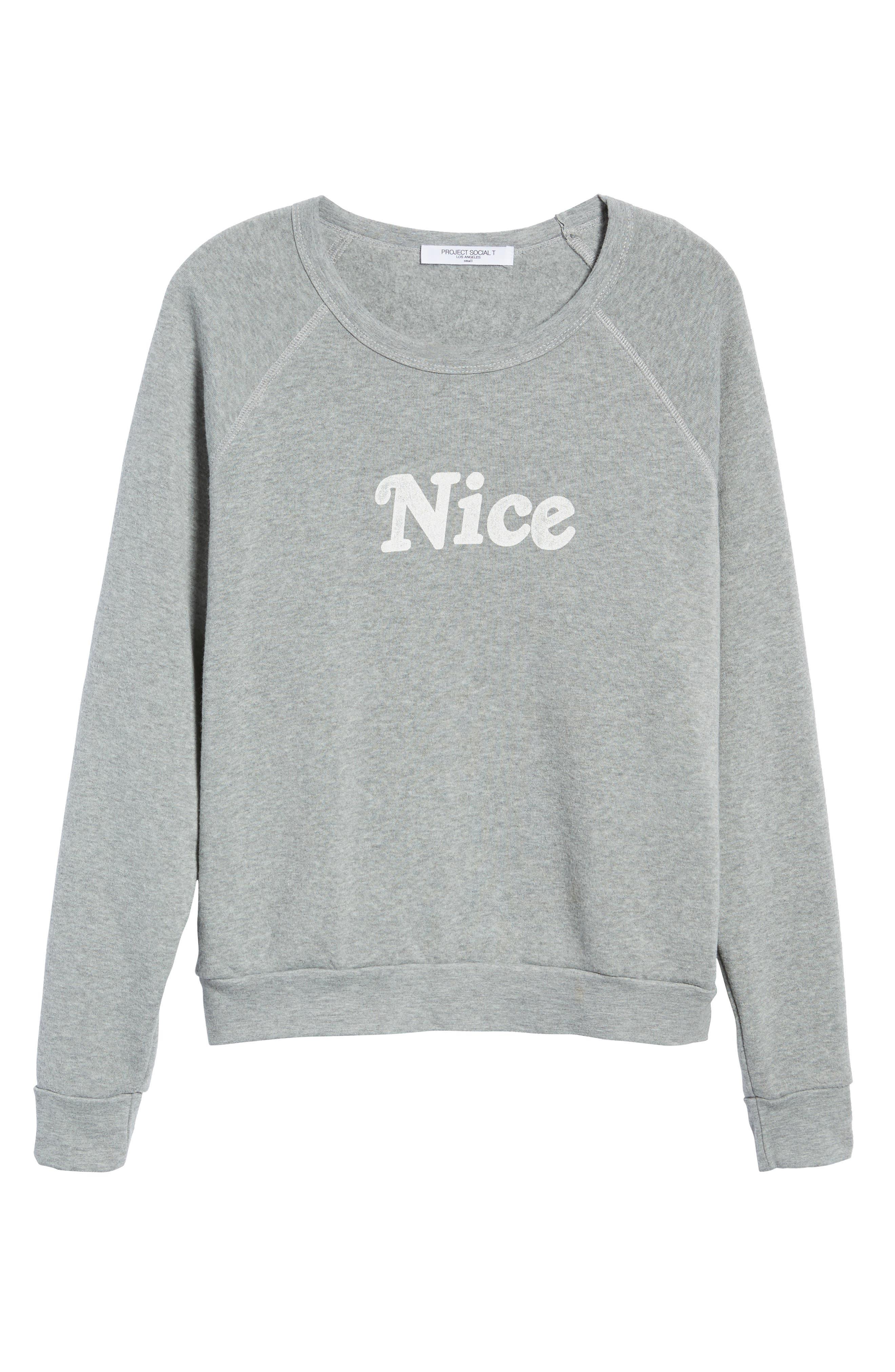 Naughty/Nice Reversible Sweatshirt,                             Alternate thumbnail 7, color,                             HEATHER GREY