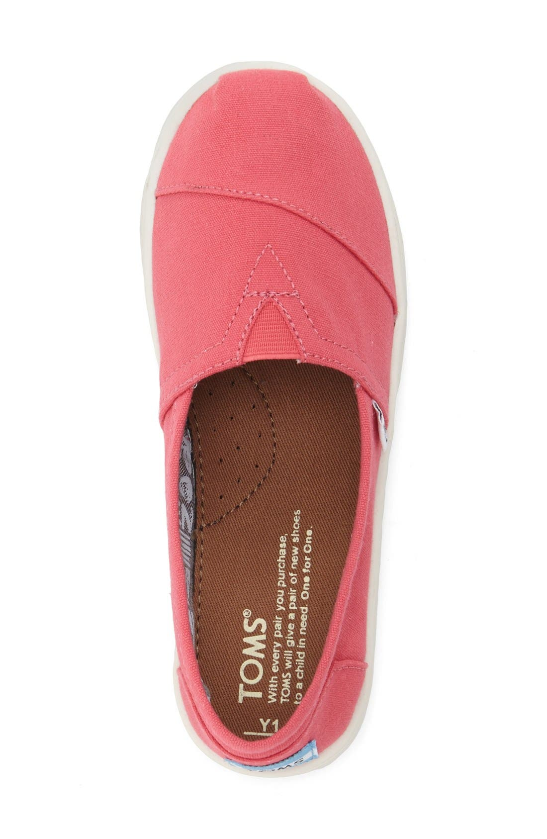 'Classic - Youth' Slip-On,                             Alternate thumbnail 3, color,                             MEDIUM PINK