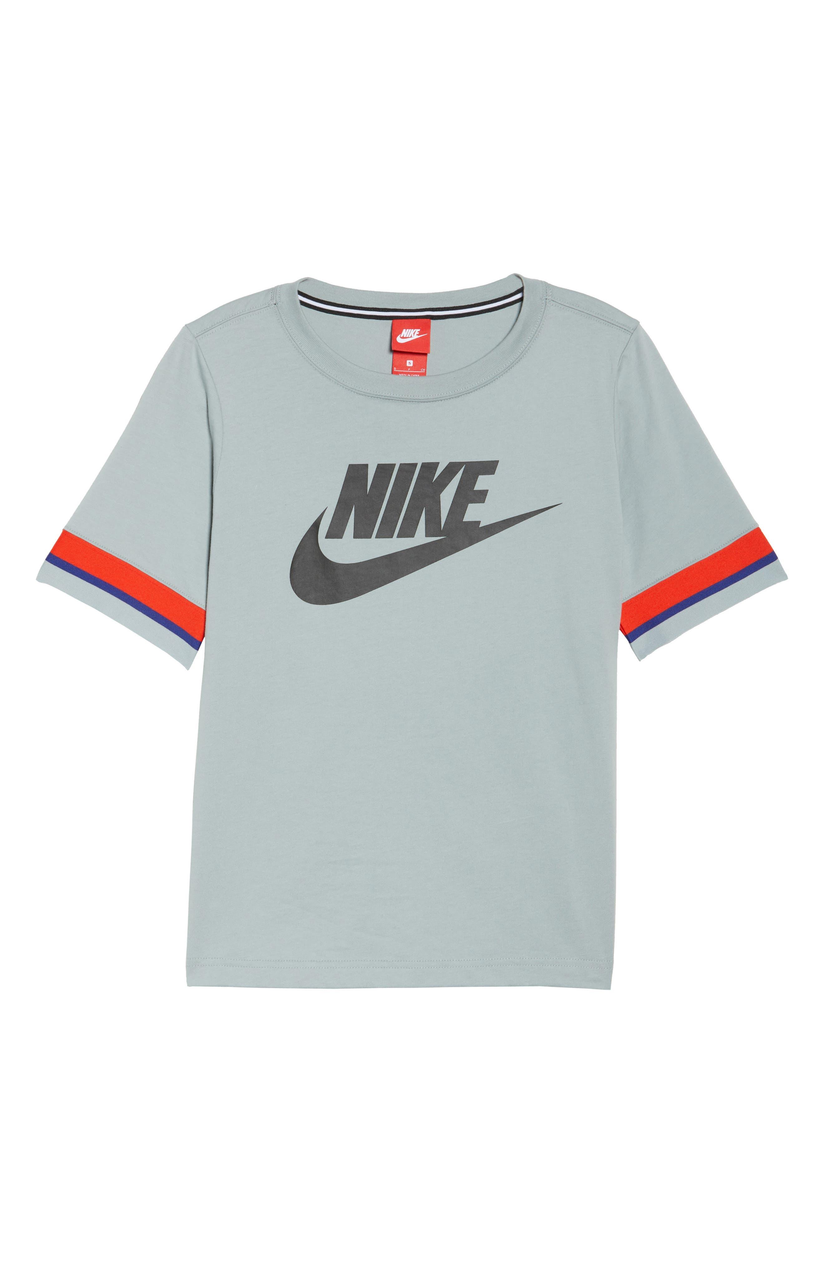 Sportswear Stripe Sleeve Tee,                             Alternate thumbnail 7, color,                             020