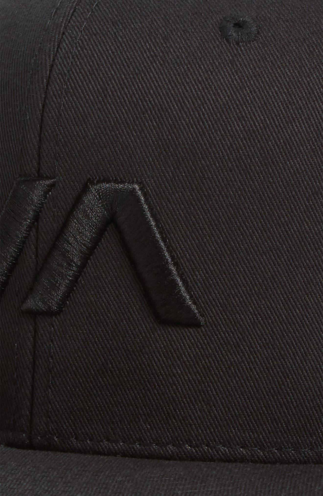 VA Snapback II Snapback Hat,                             Alternate thumbnail 3, color,                             BLACK/ BLACK