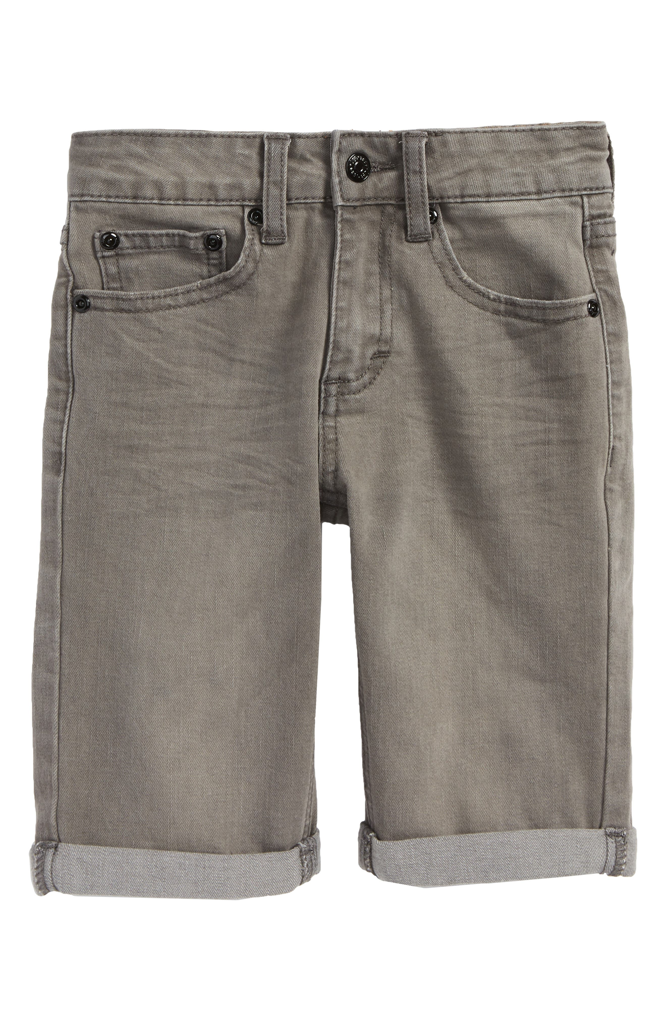 Stretch Denim Roll Cuff Shorts,                             Main thumbnail 1, color,                             060