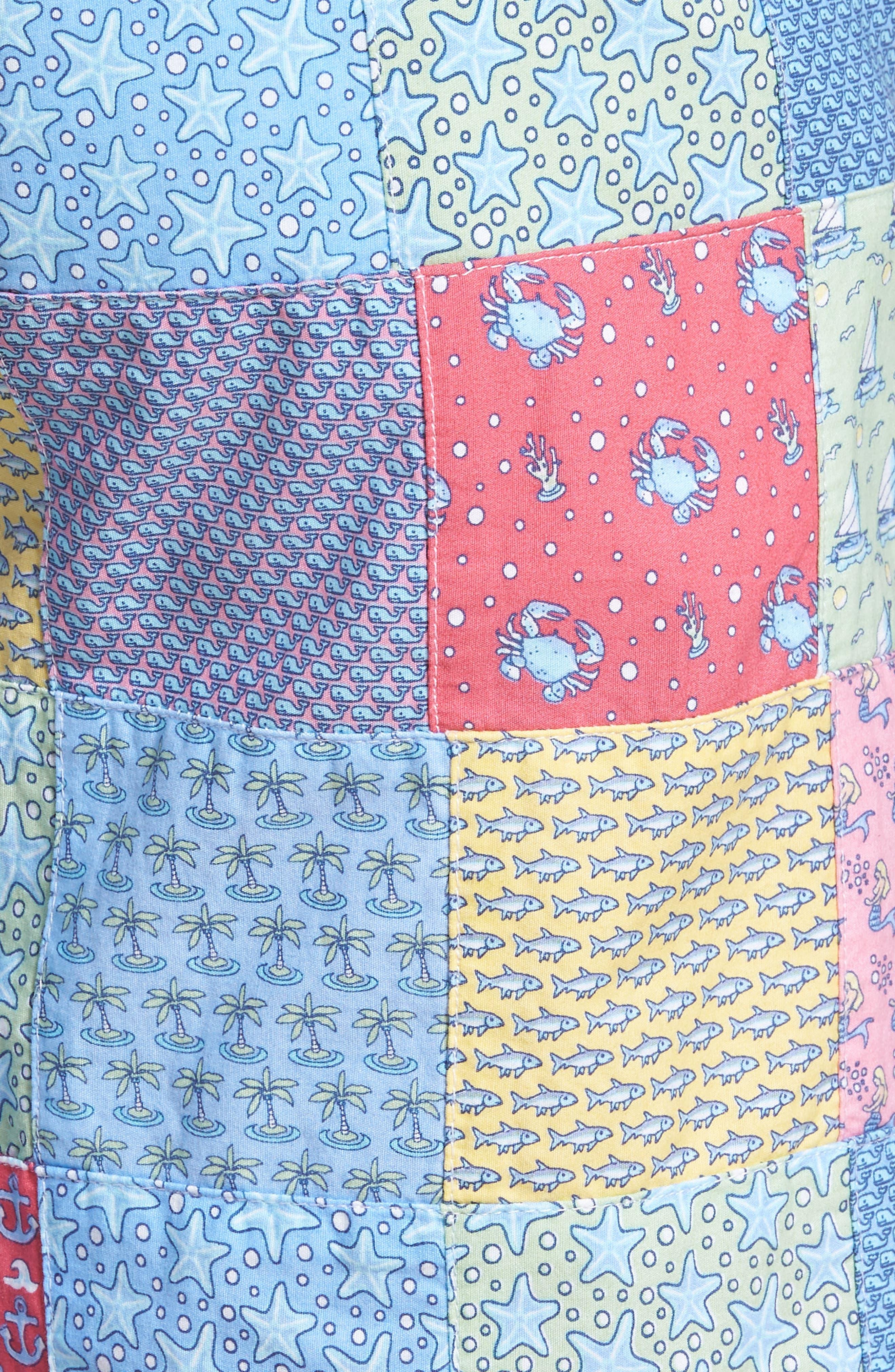 Patchwork Breaker Shorts,                             Alternate thumbnail 5, color,