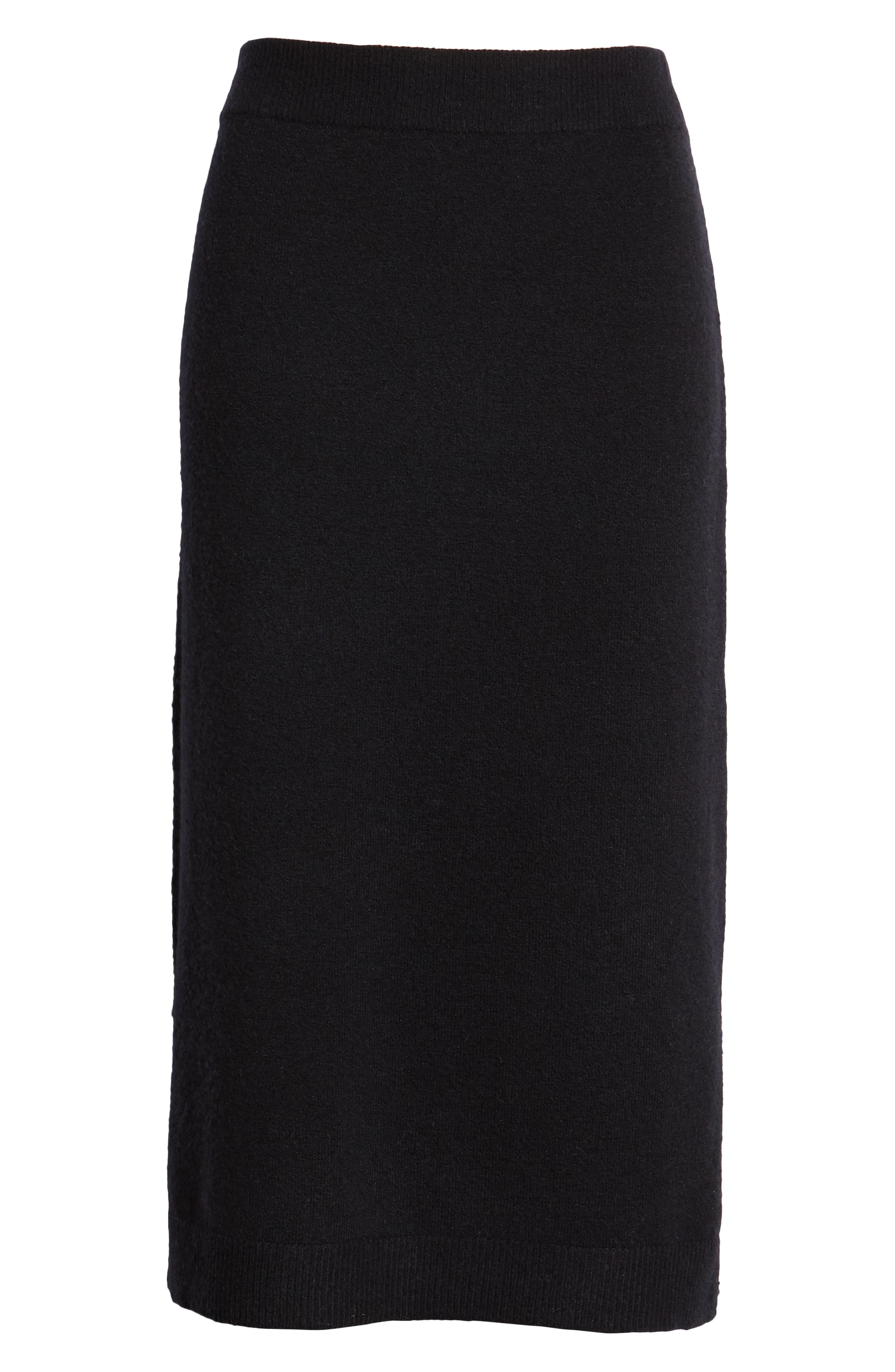 Sweater Pencil Sweater Skirt,                             Alternate thumbnail 6, color,                             BLACK