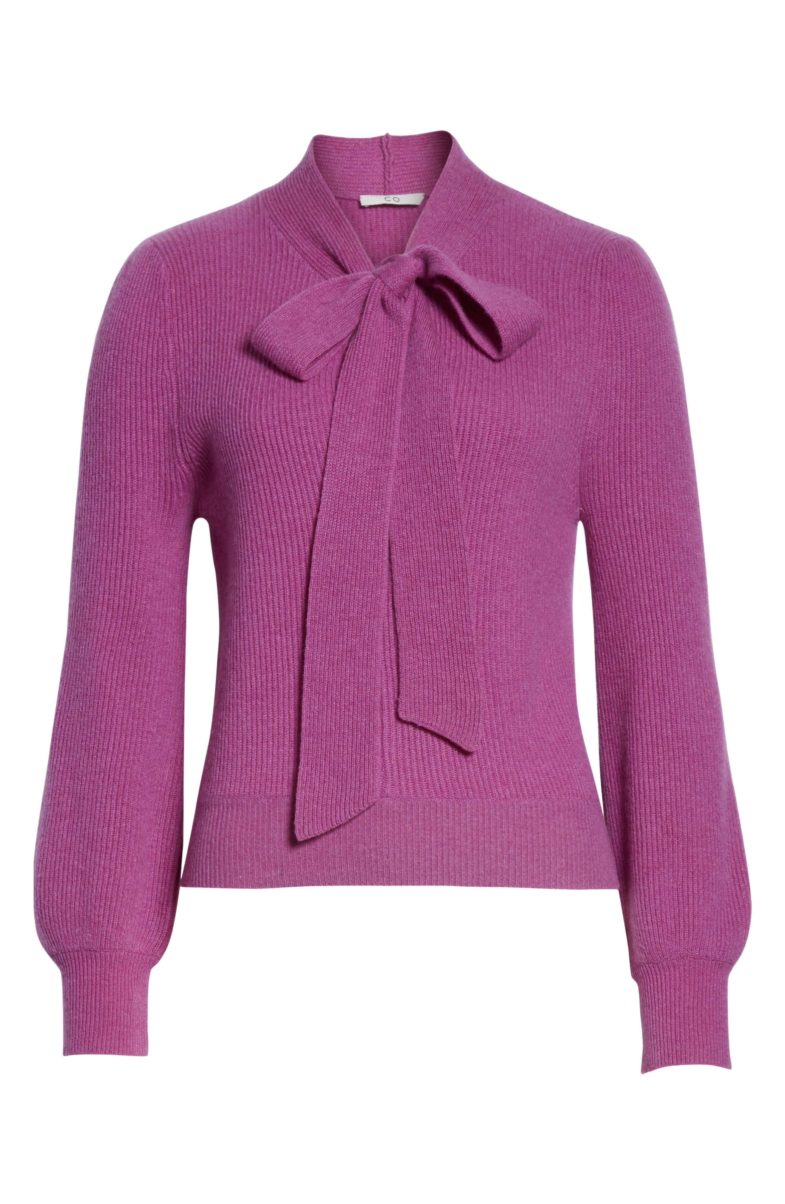 CO,                             Tie Neck Cashmere Sweater,                             Alternate thumbnail 6, color,                             679