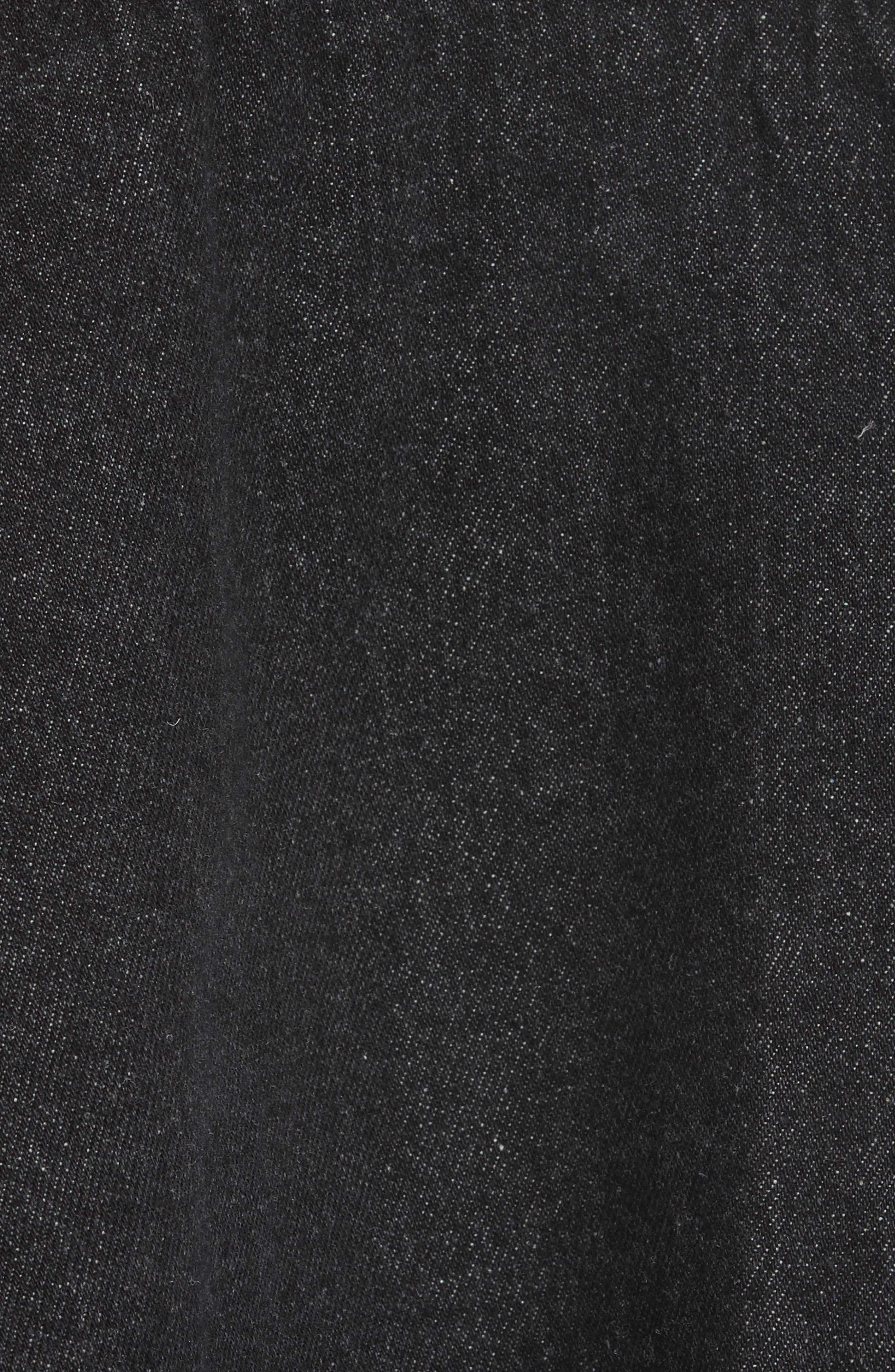 Denim Ruffle Shirt,                             Alternate thumbnail 5, color,                             001