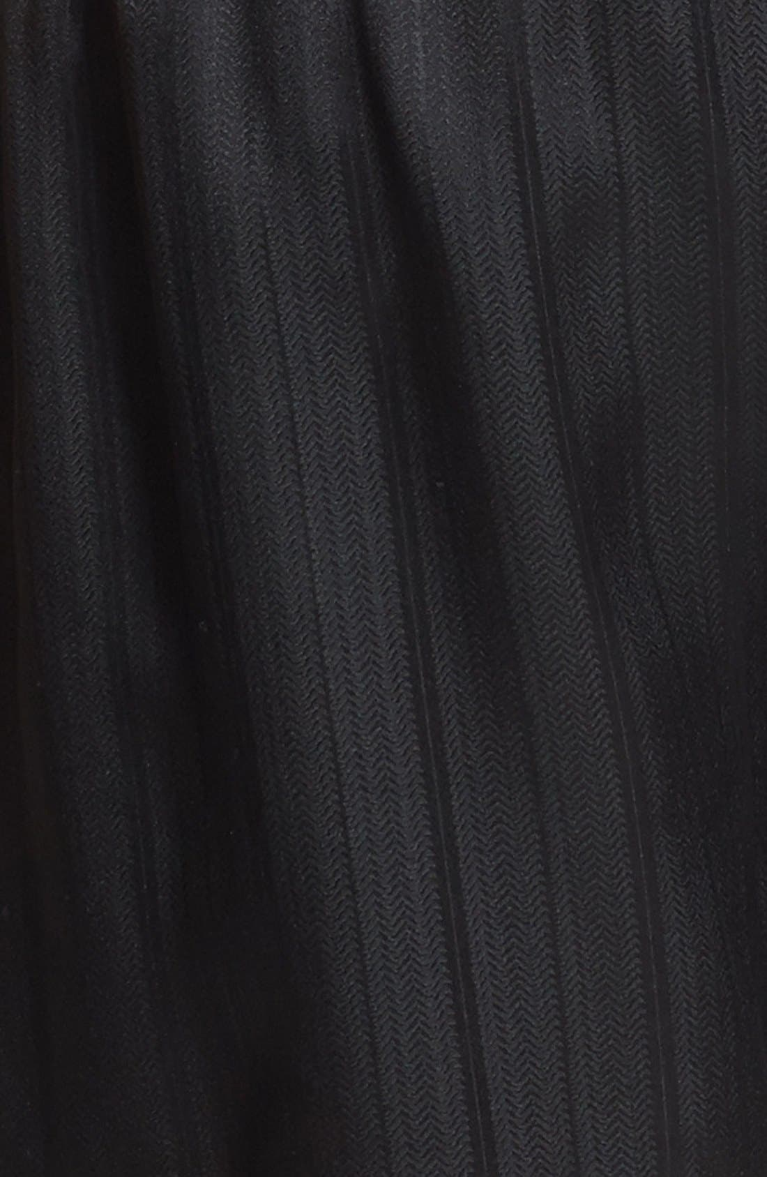 Herringbone Stripe Silk Boxer Shorts,                             Alternate thumbnail 6, color,                             NIGHT