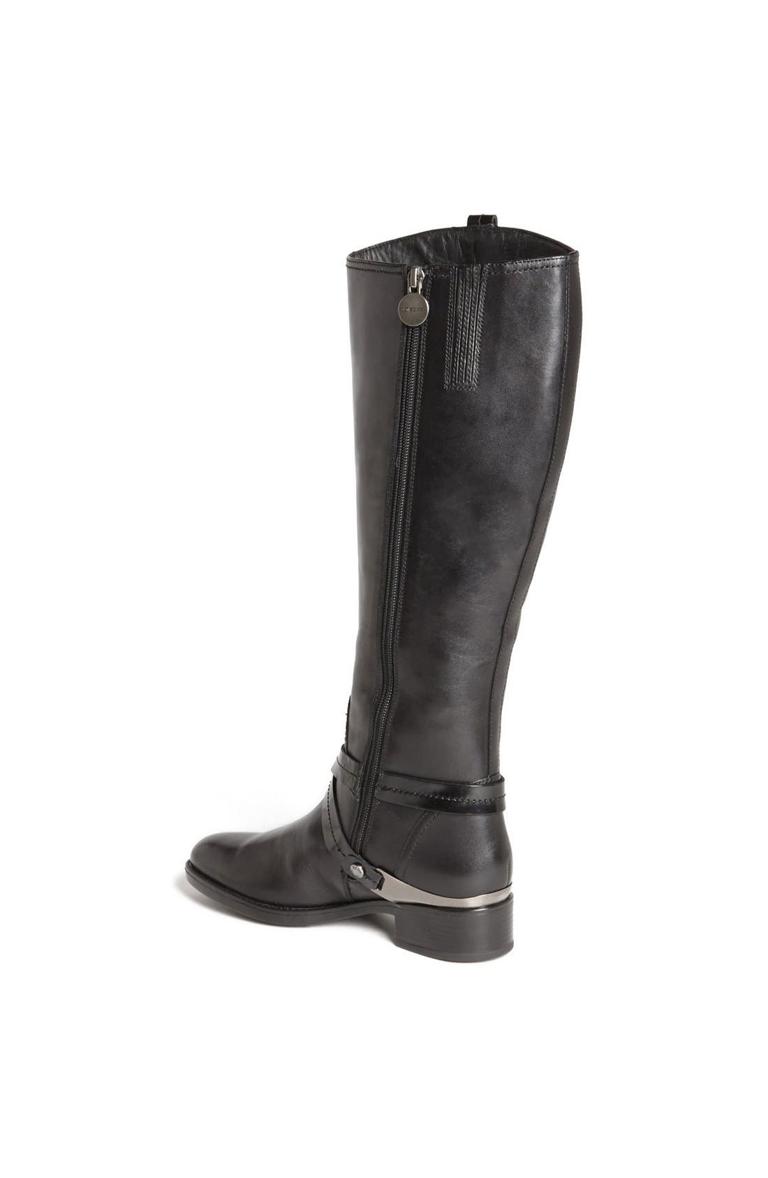 'Felicity' Tall Riding Boot,                             Alternate thumbnail 3, color,                             001