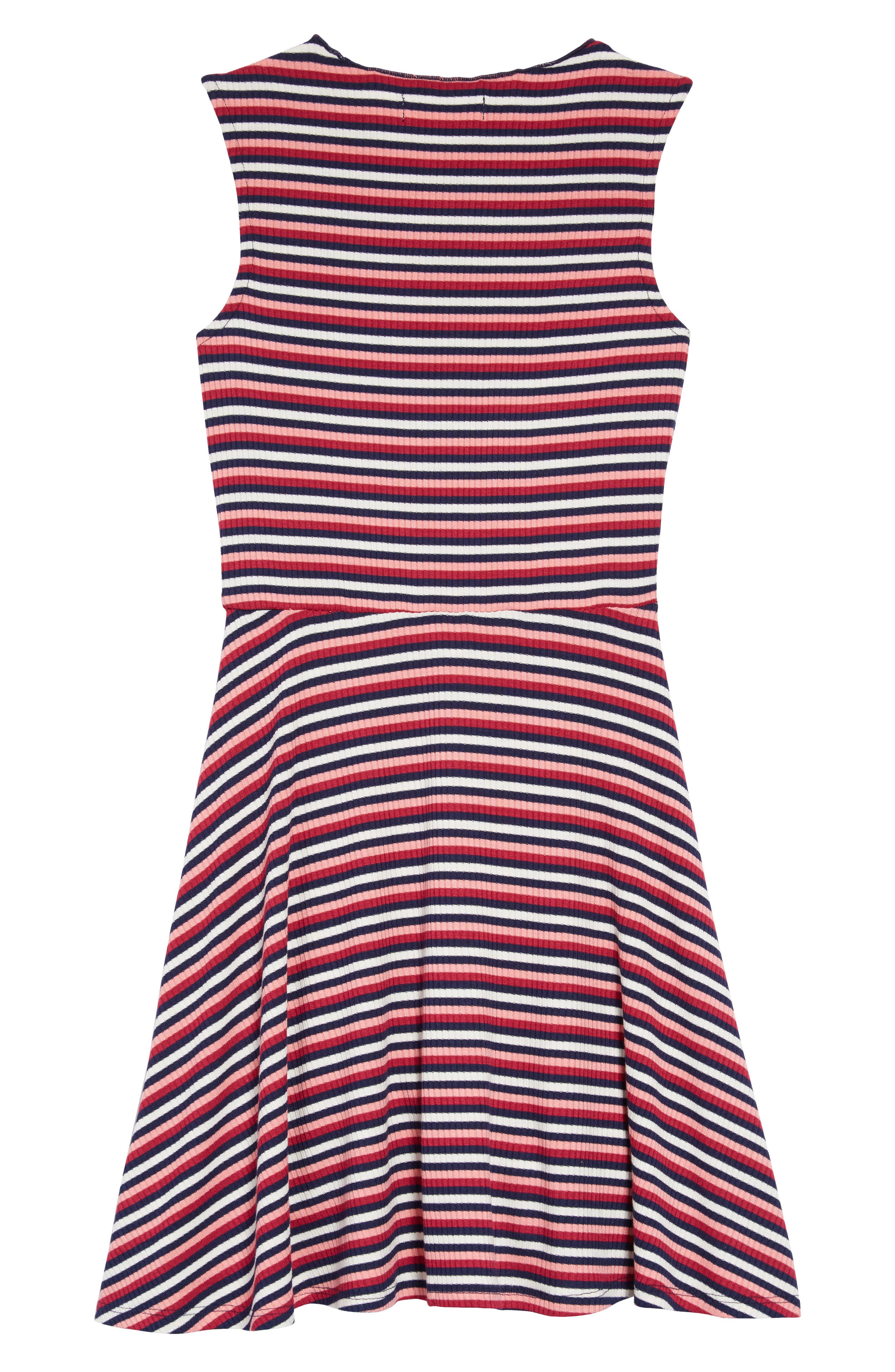 TEN SIXTY SHERMAN,                             Stripe Dress,                             Alternate thumbnail 2, color,                             WHITE RASPBERRY