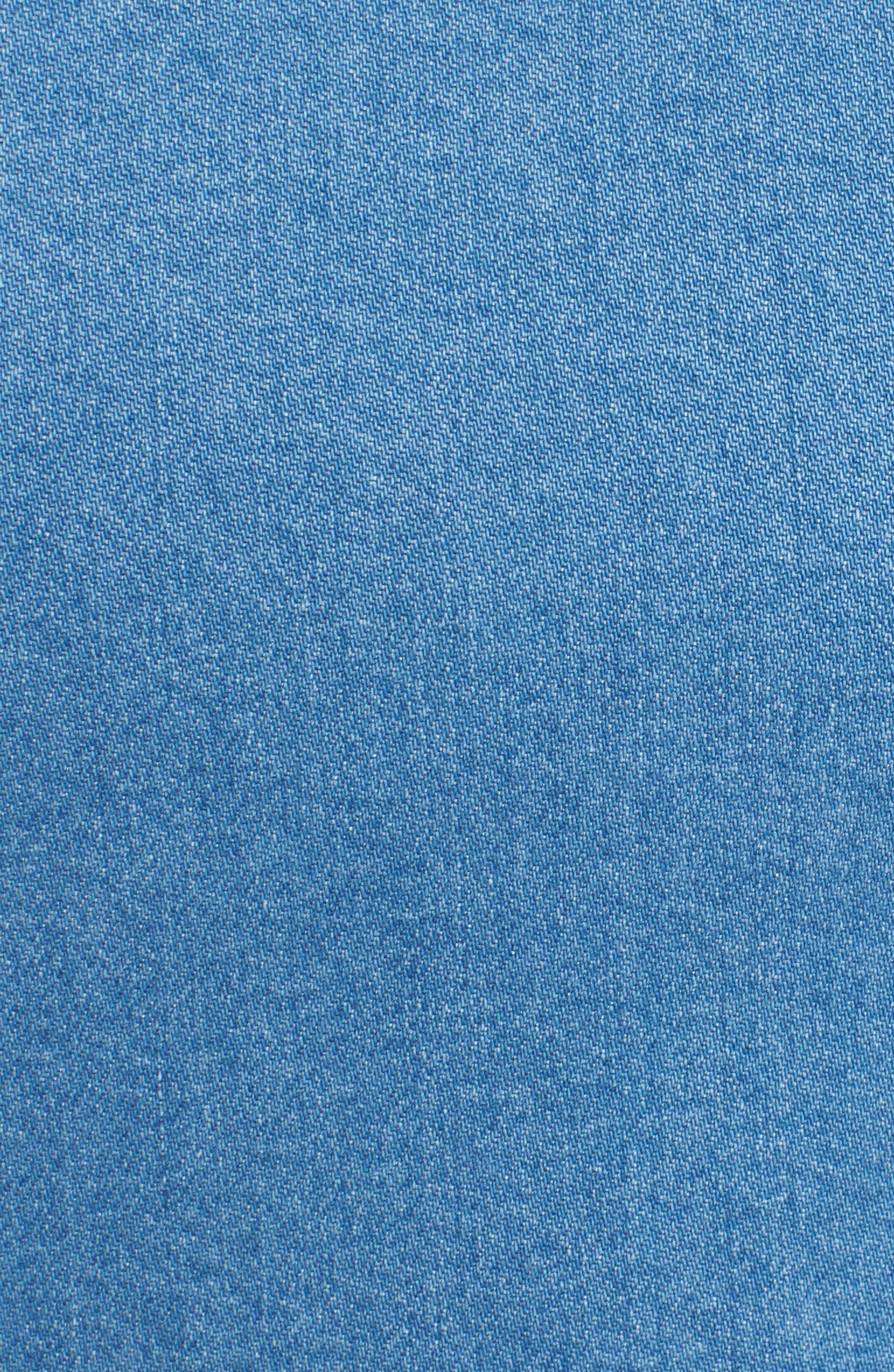Long Sleeve Denim Dress,                             Alternate thumbnail 5, color,                             491