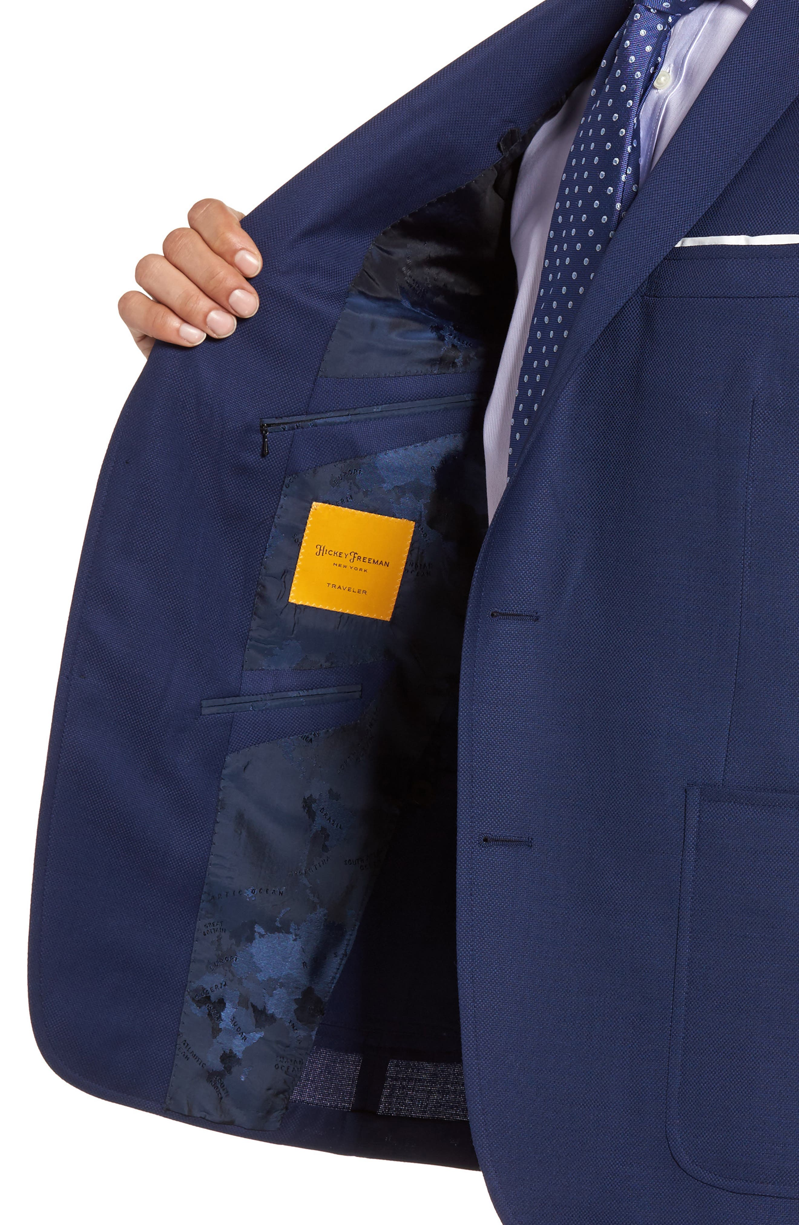 Classic B Fit Global Guardian Wool Blazer,                             Alternate thumbnail 4, color,                             400