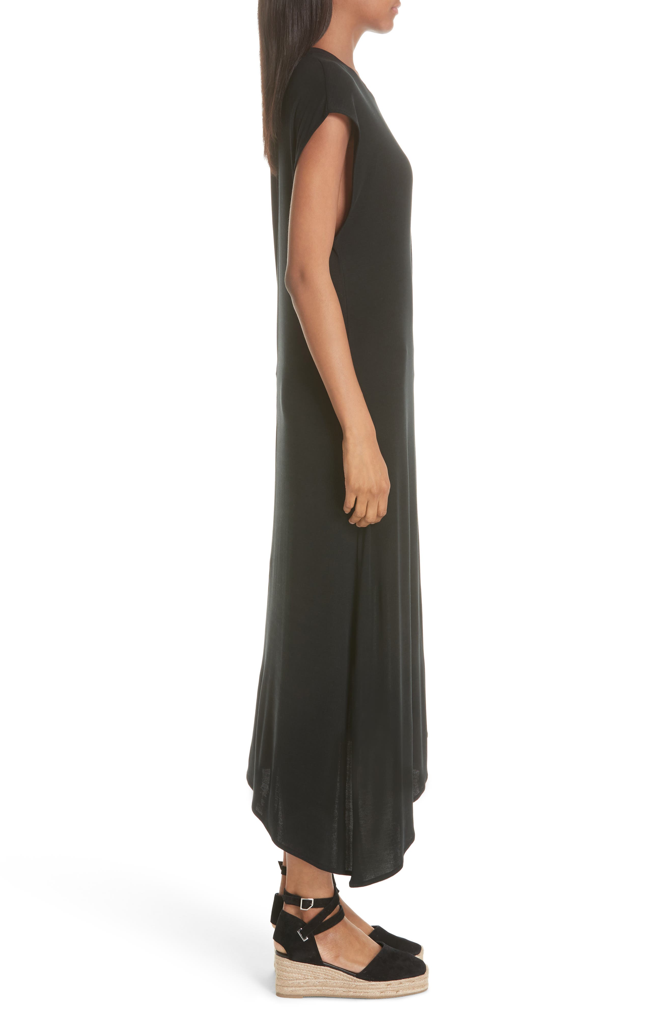 Ophelia Asymmetrical Dress,                             Alternate thumbnail 3, color,                             001