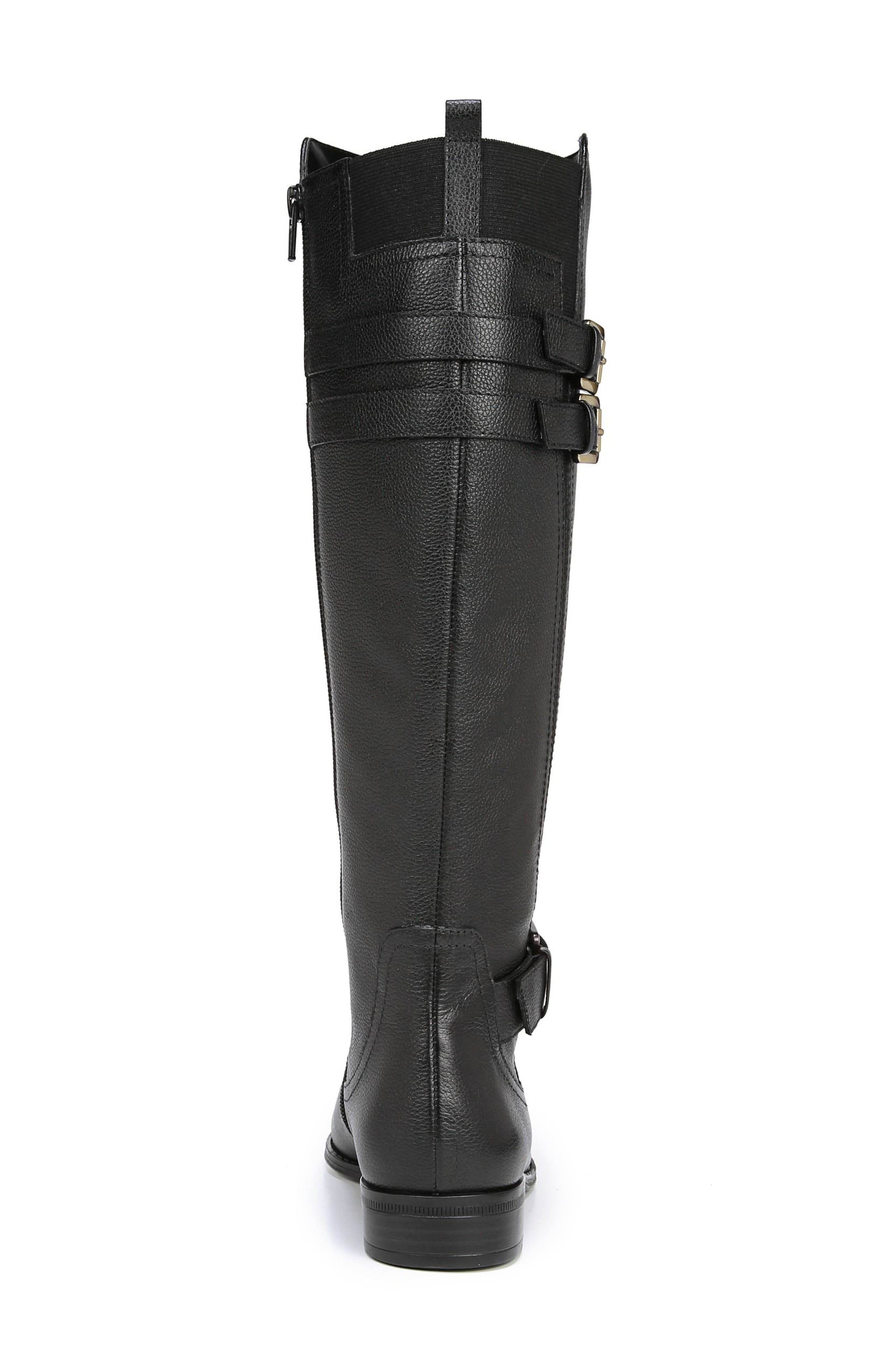 Jessie Knee High Riding Boot,                             Alternate thumbnail 7, color,                             BLACK LEATHER