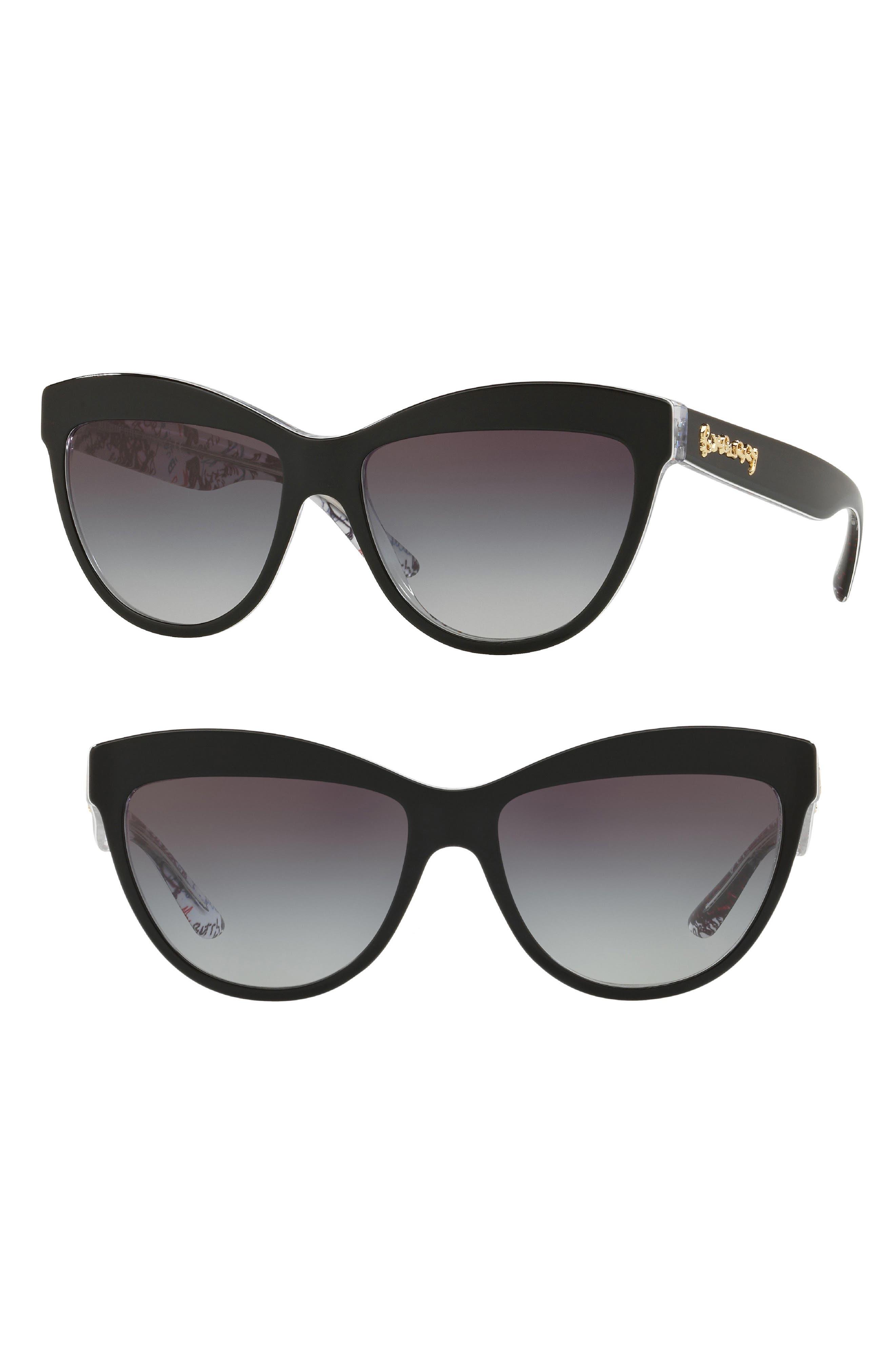 Acoustic 56mm Cat Eye Sunglasses,                             Main thumbnail 1, color,                             001