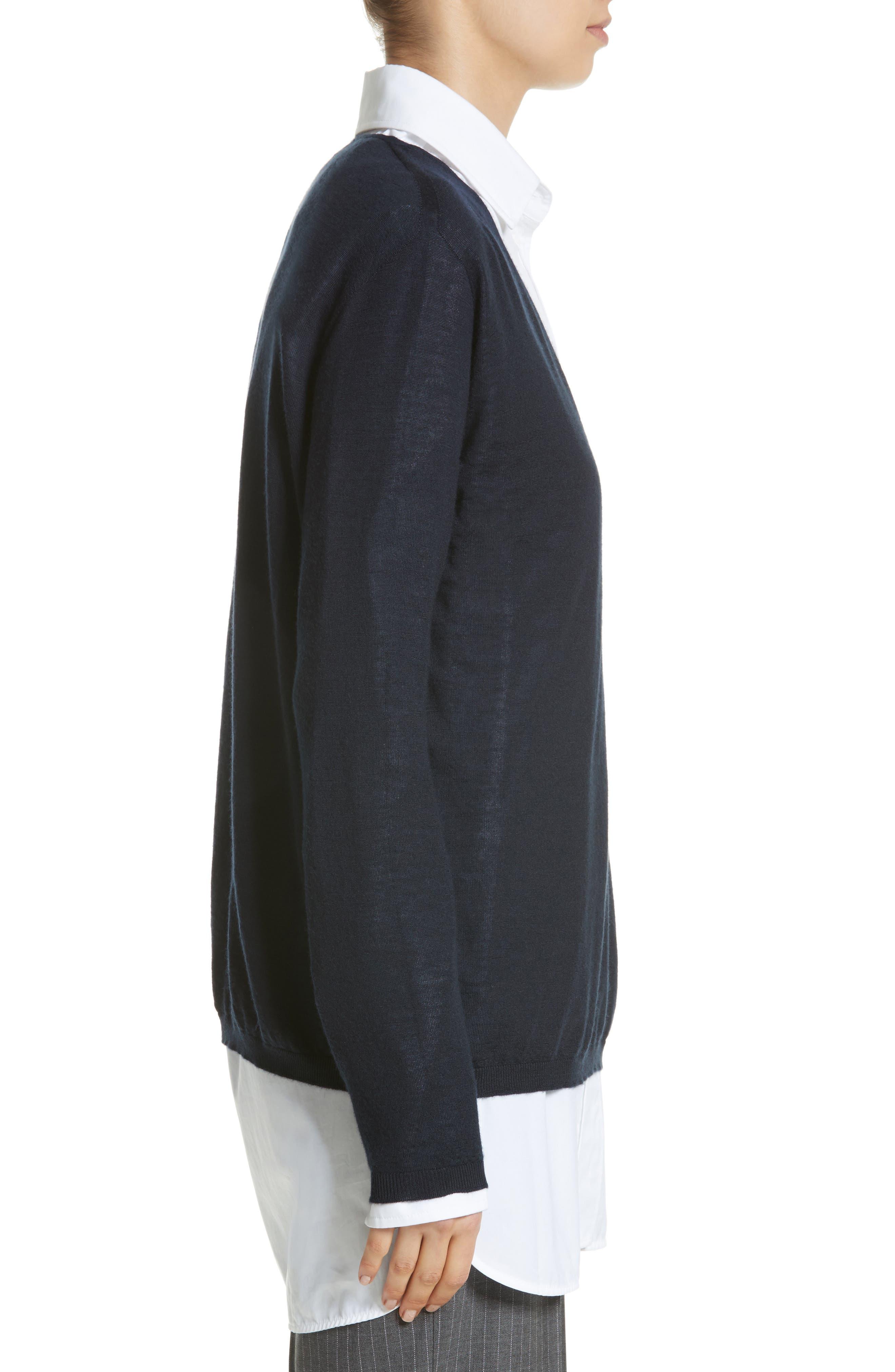 Vela Cashmere Sweater,                             Alternate thumbnail 3, color,                             411