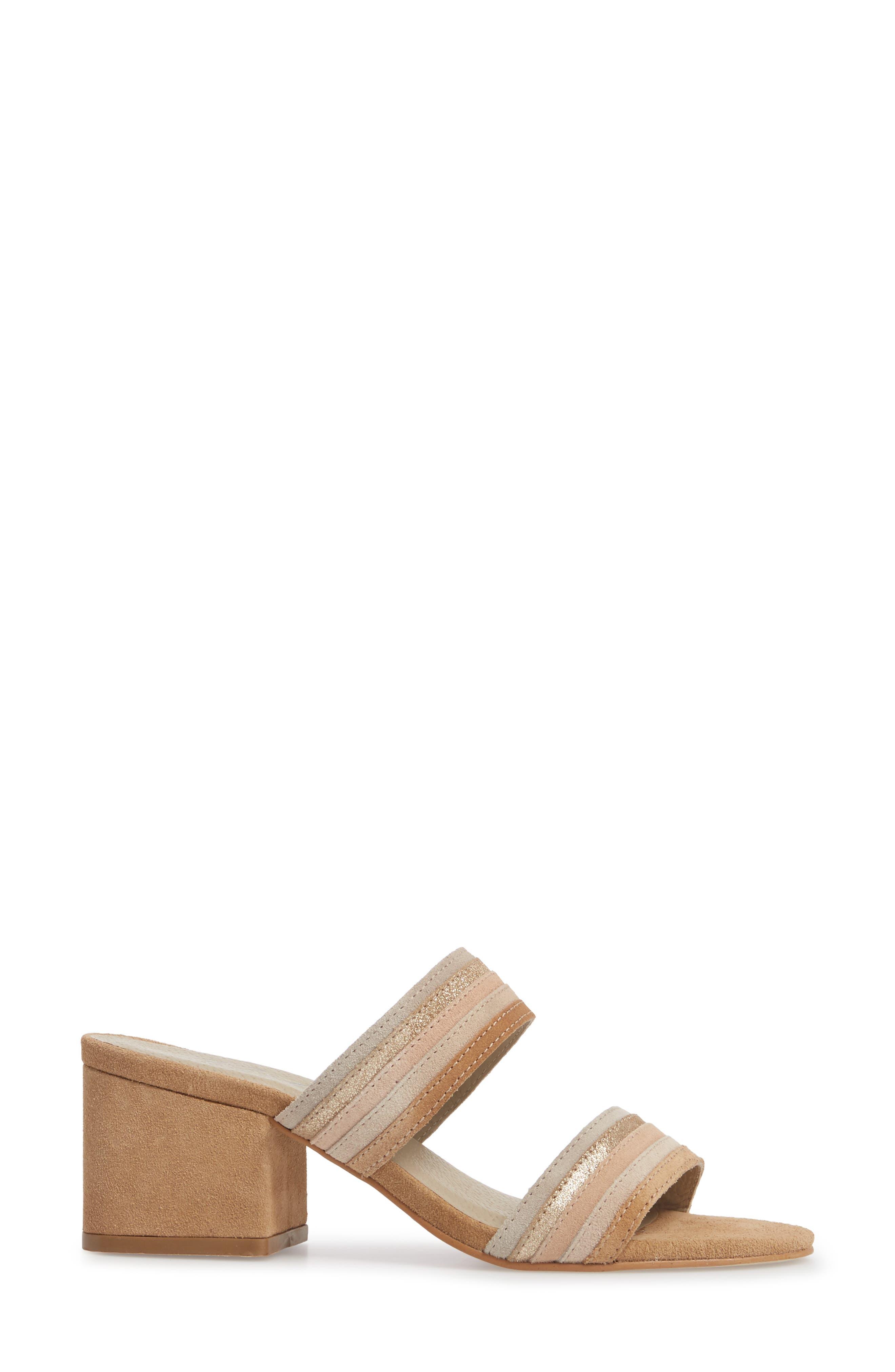 Bonita Slide Sandal,                             Alternate thumbnail 3, color,                             NATURAL SUEDE