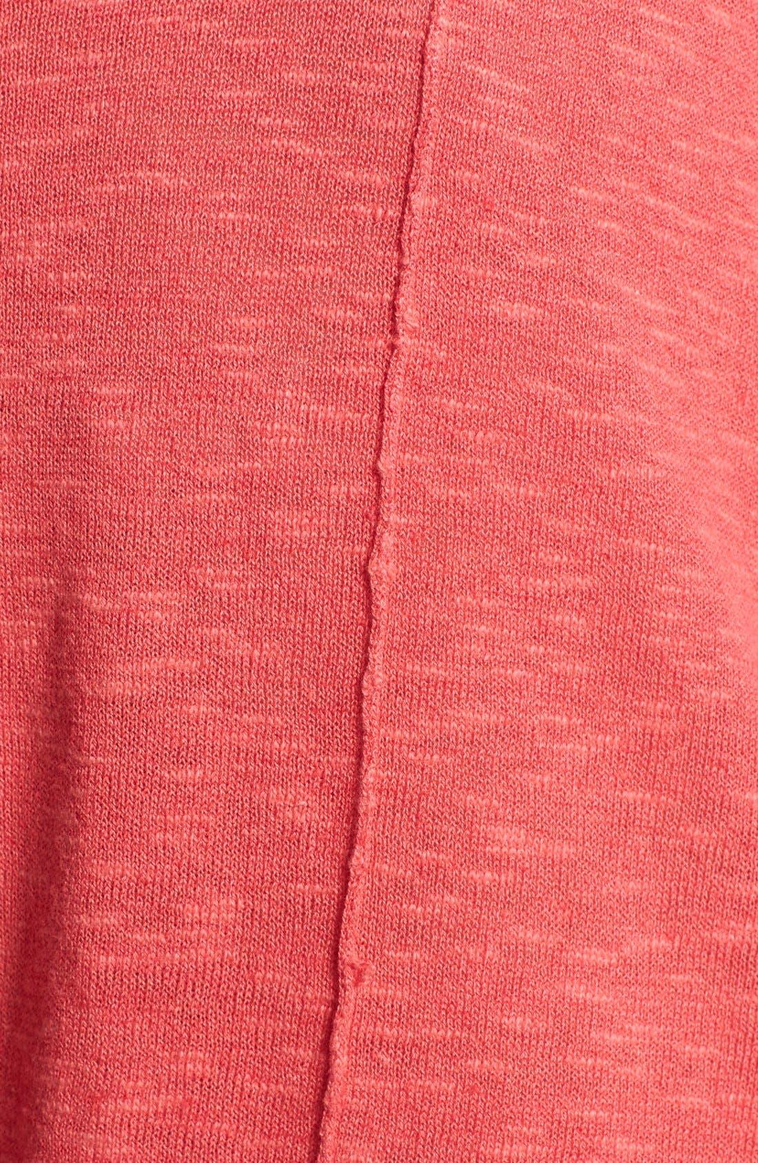 Cap Sleeve Organic Linen & Cotton Scoop Neck Top,                             Alternate thumbnail 34, color,