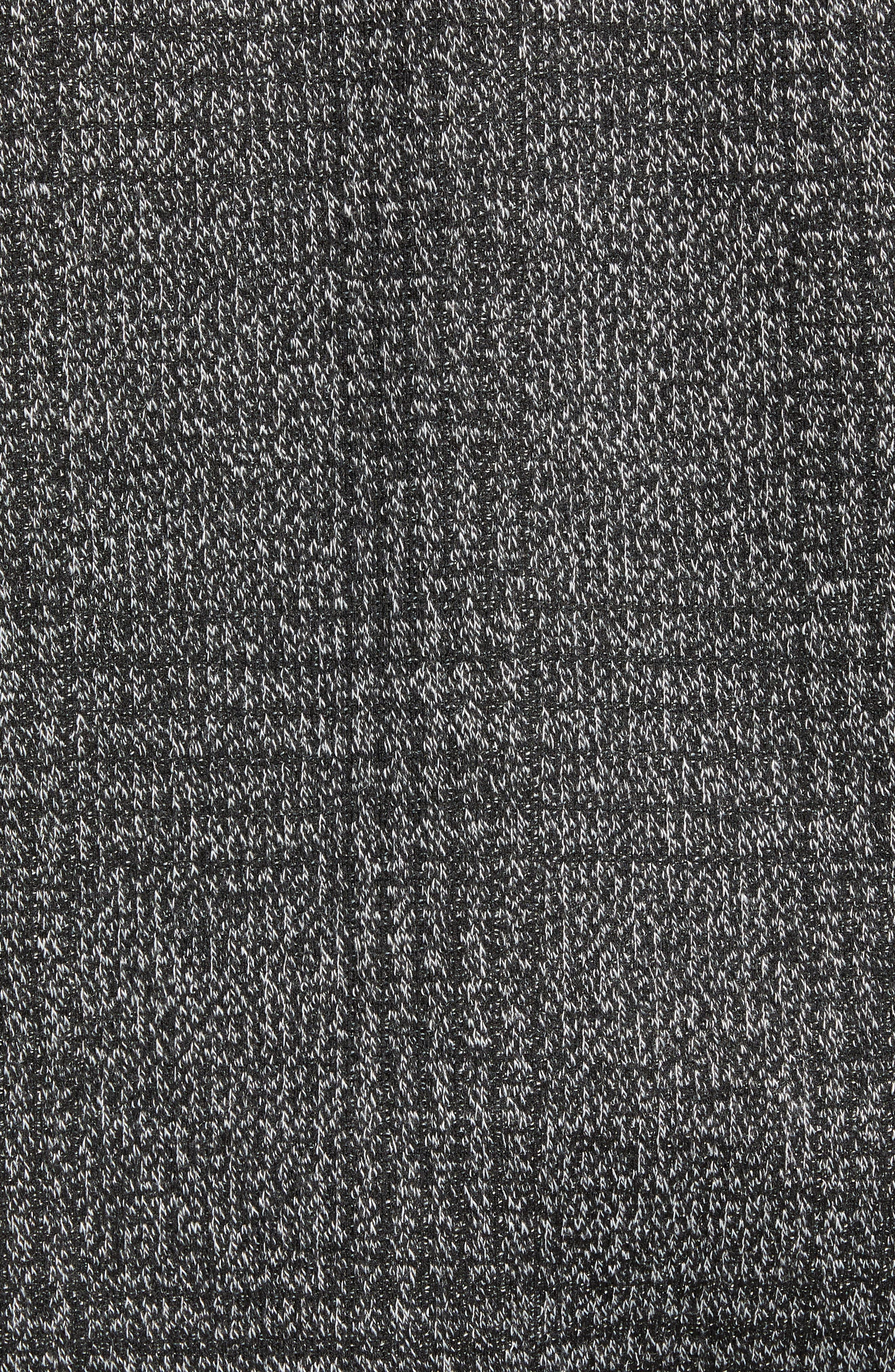 Slim Fit Plaid Knit Bomber Jacket,                             Alternate thumbnail 7, color,                             CHARCOAL PLAID