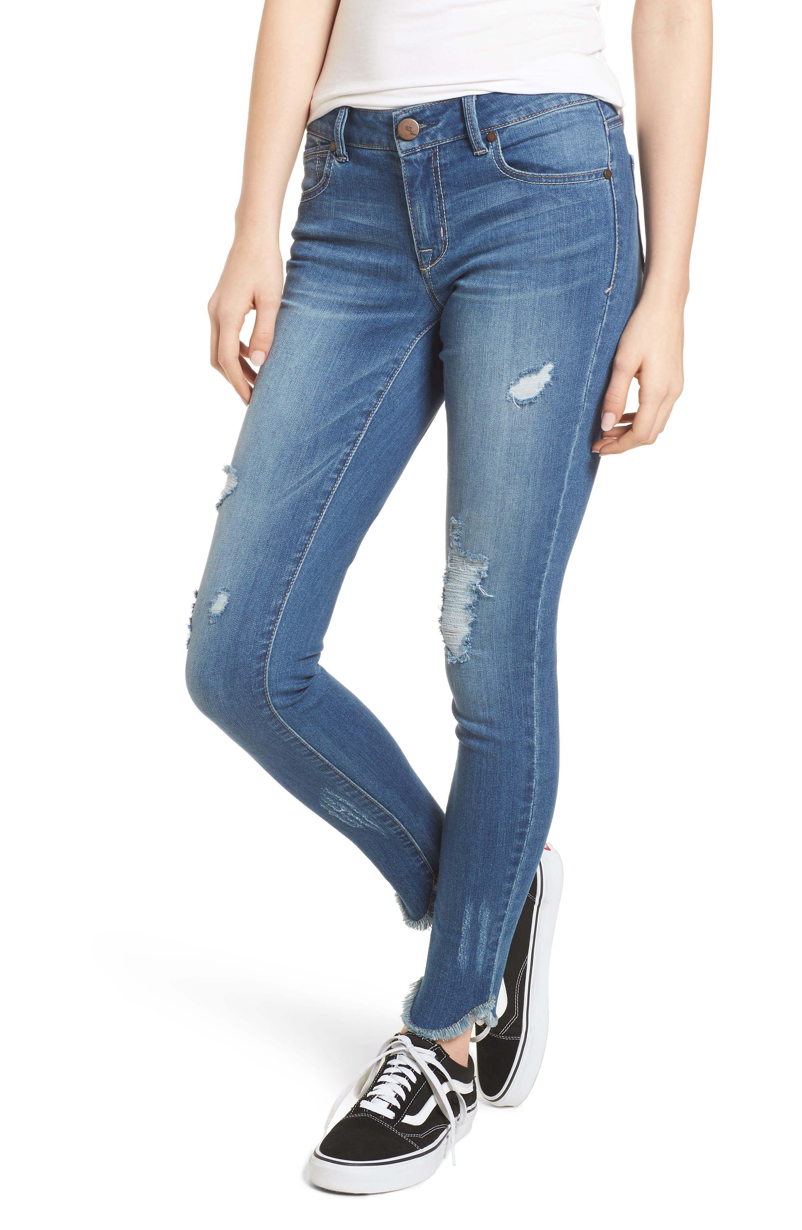 Raw Edge Skinny Jeans,                         Main,                         color, 426