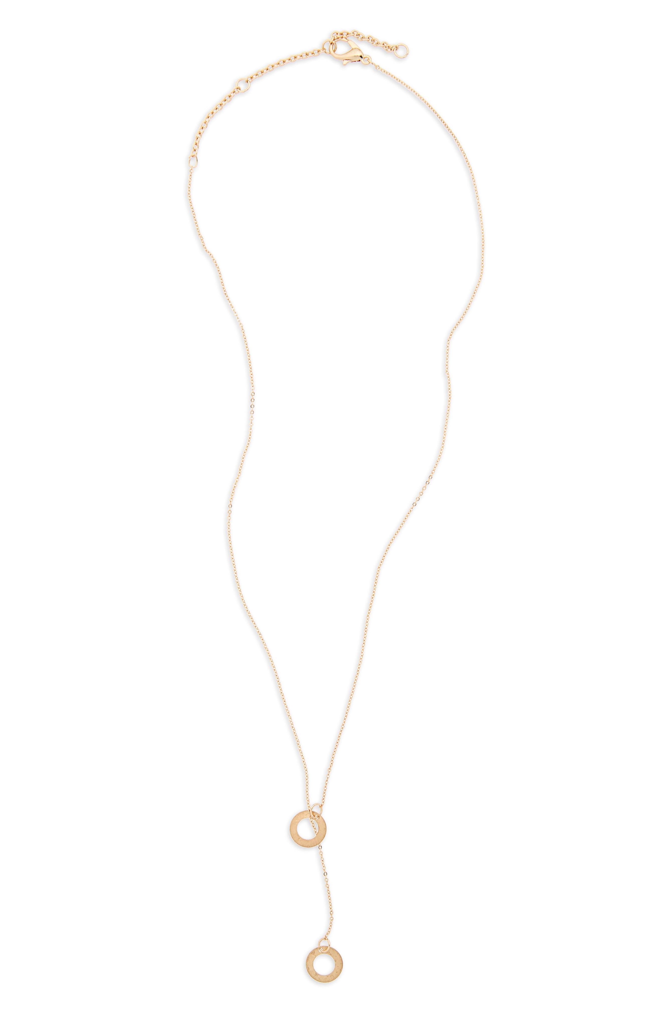 Disc Lariat Necklace,                         Main,                         color, 710