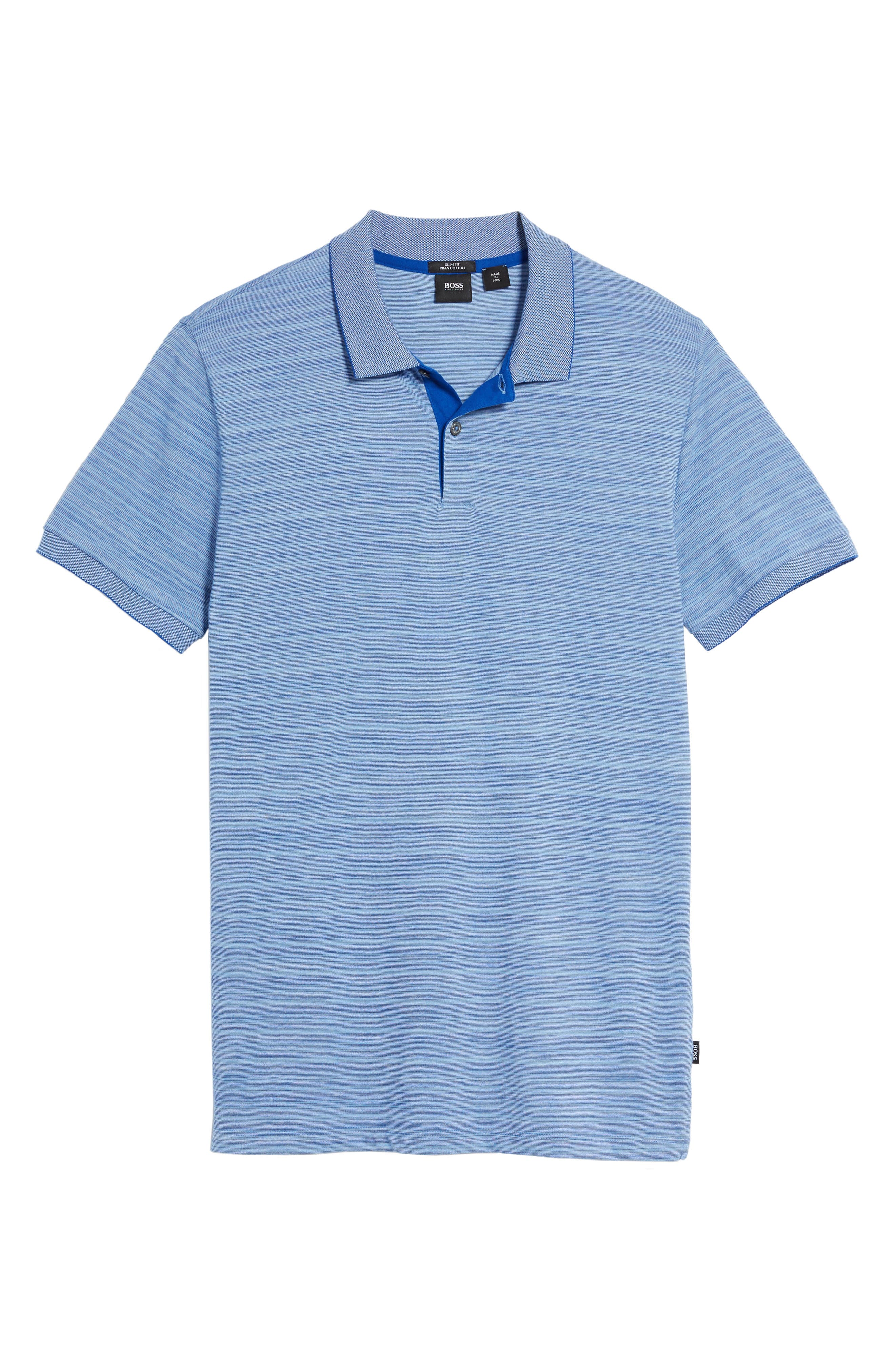 Phillipson Flame Slim Fit Polo,                             Alternate thumbnail 6, color,                             463
