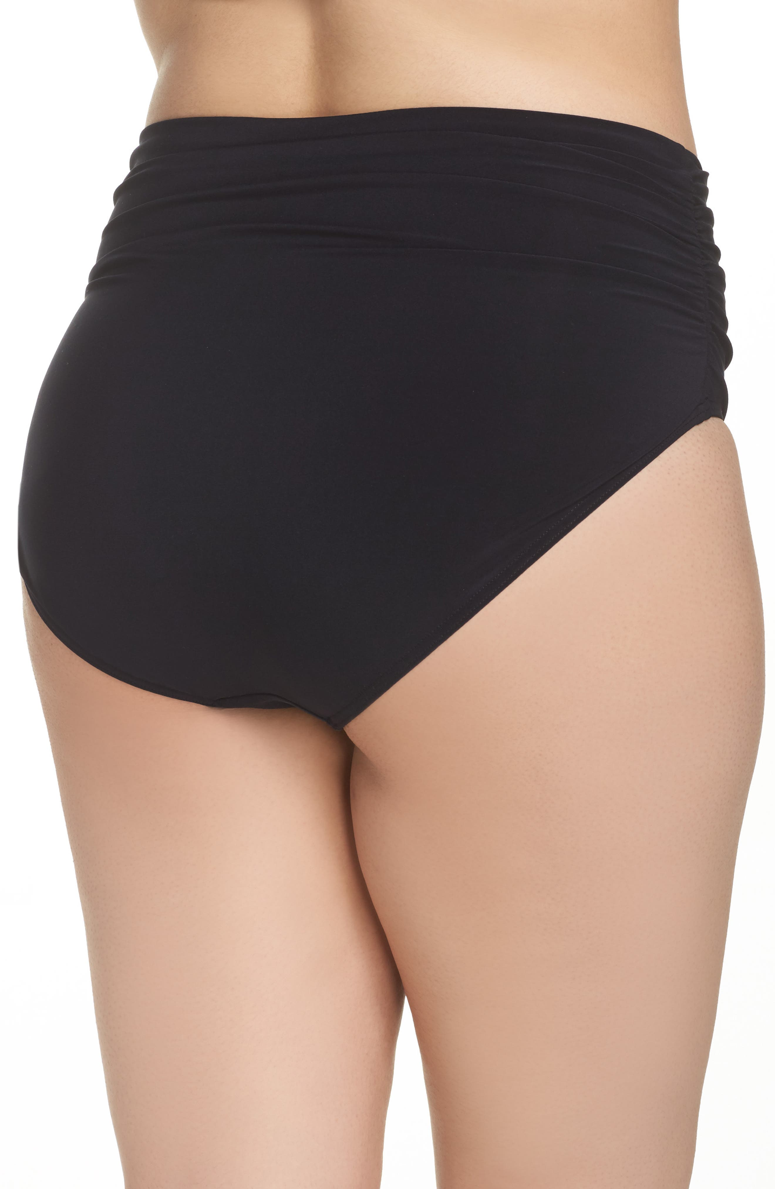 Ruched Bikini Bottoms,                             Alternate thumbnail 2, color,                             001