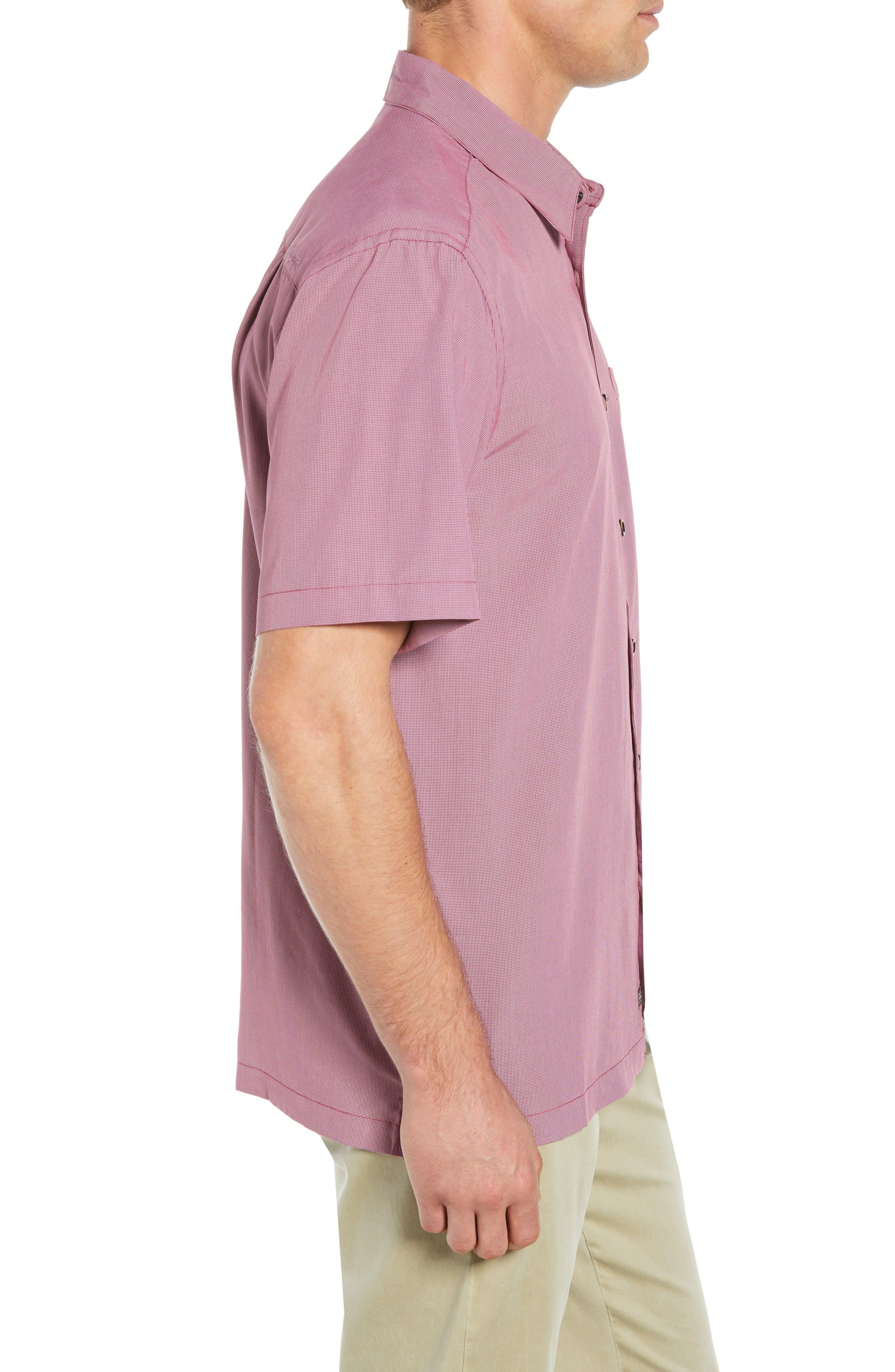 Cane Island Classic Fit Camp Shirt,                             Alternate thumbnail 4, color,                             TAWNY PORT