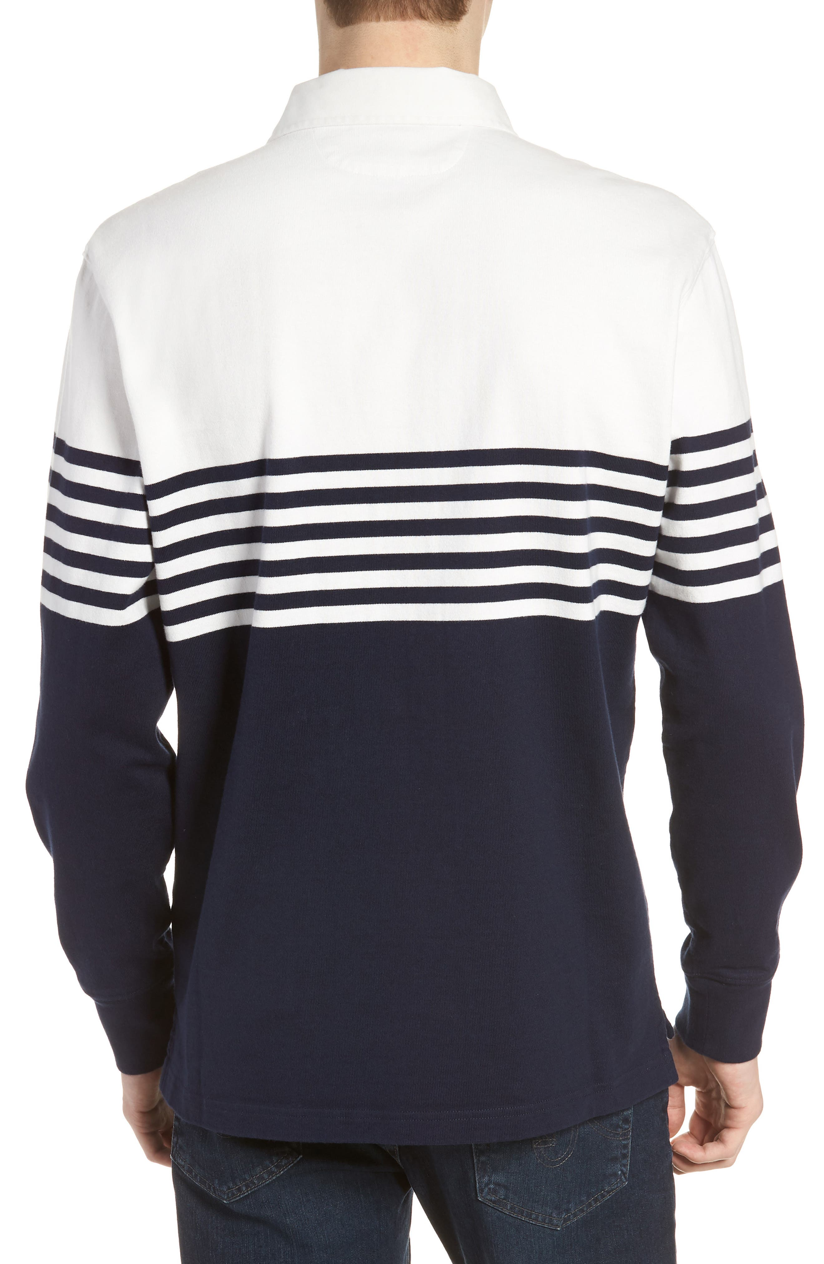 1984 Colorblock Stripe Rugby Shirt,                             Alternate thumbnail 2, color,                             400