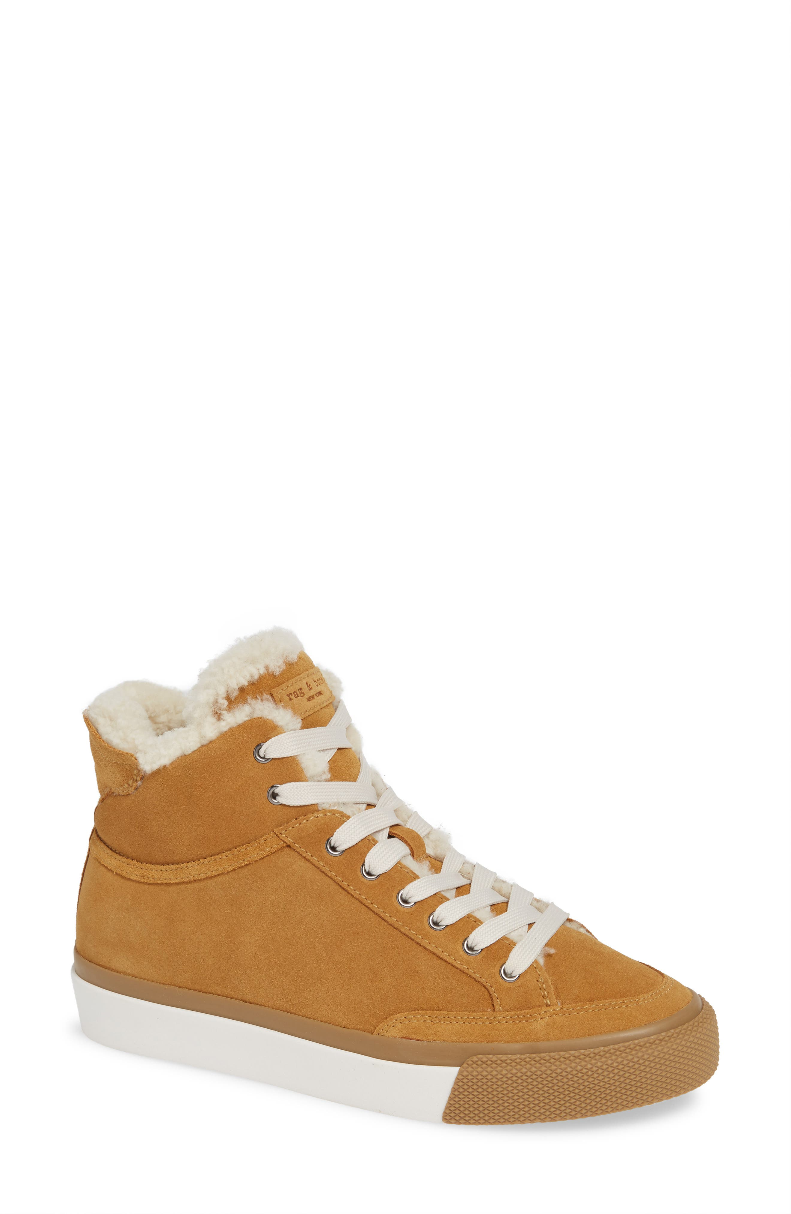 Army High Top Sneaker,                             Main thumbnail 1, color,                             OAK SUEDE